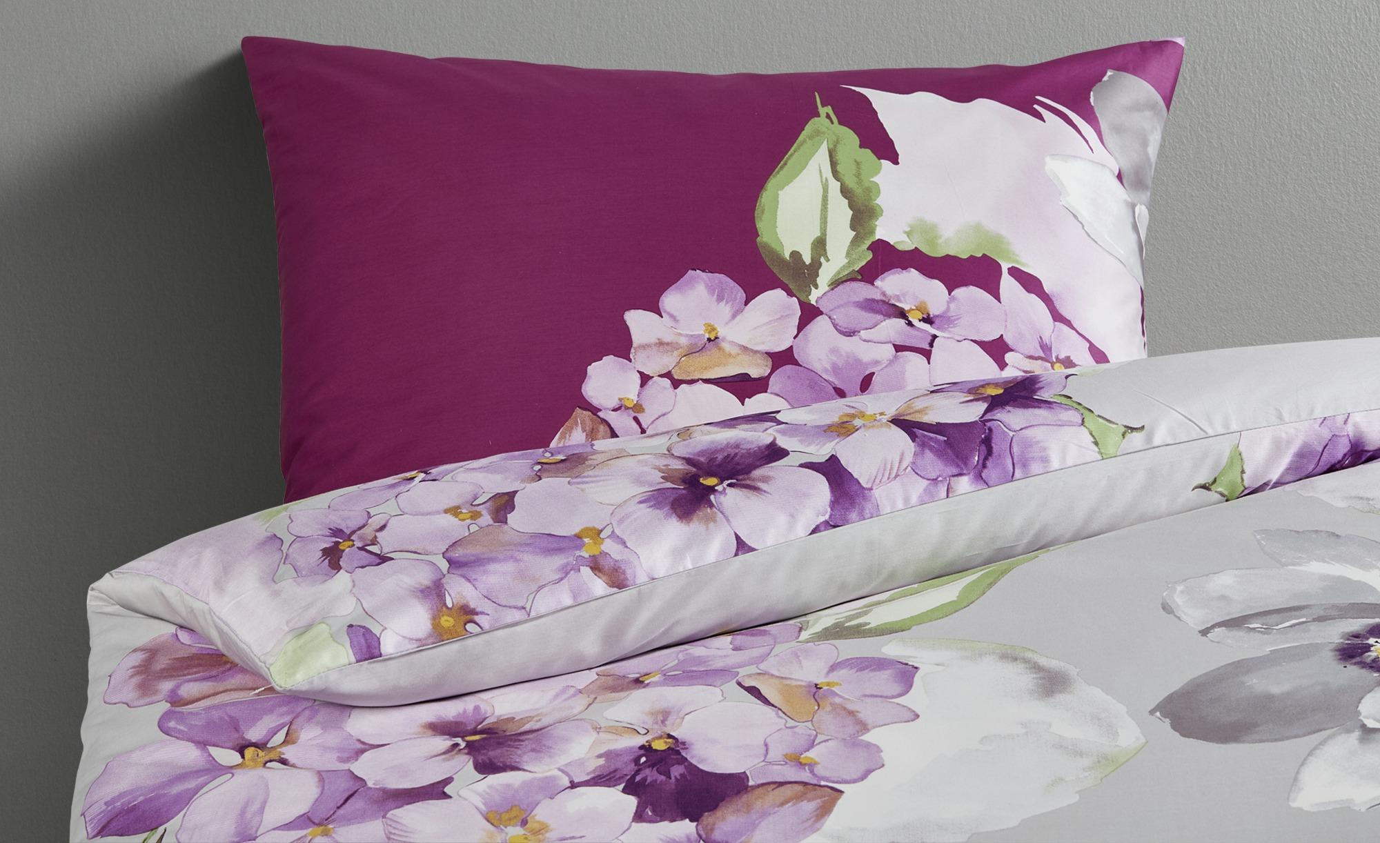 Bettwäsche Seersucker Bettwäsche Purple Flower