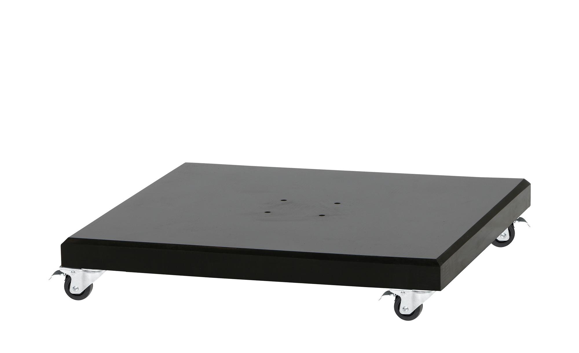 Schirmständer - schwarz - Granit - 80 cm - 17 cm - Garten > Sonnenschutz > Schirmständer - Möbel Kraft | Garten > Sonnenschirme und Markisen > Sonnenschirmständer | Möbel Kraft