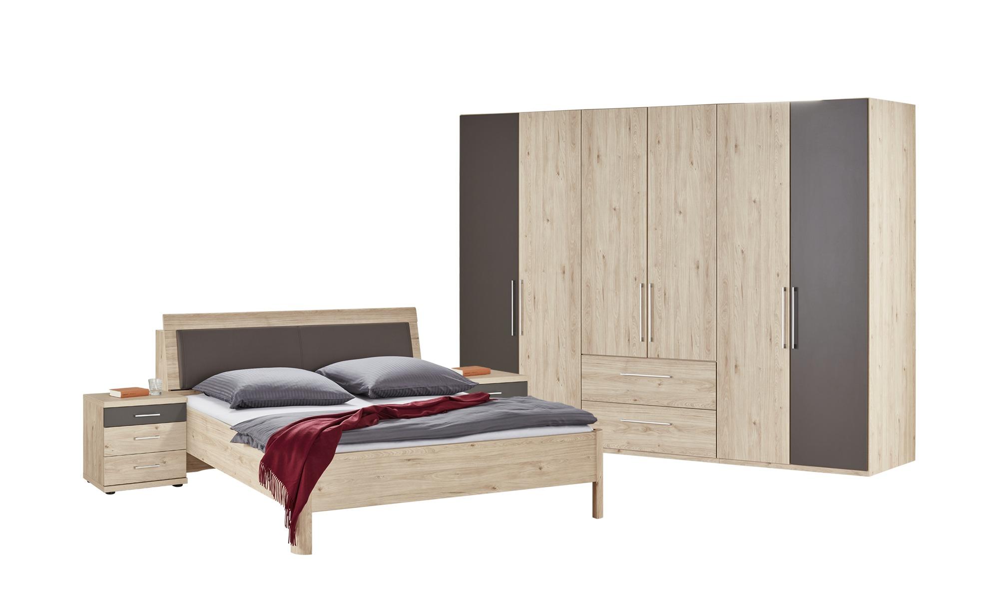 uno Komplett-Schlafzimmer, 4-teilig Grenada - holzfarben - 306 cm - 220 cm  - 71 cm - Komplett-Schlafzimmer - Möbel Kraft