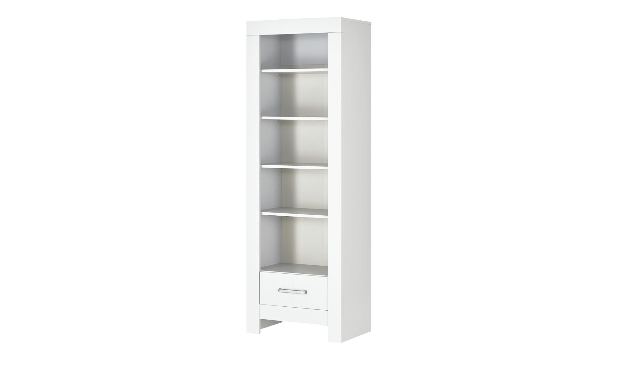 Standregal - weiß - 69,8 cm - 204,8 cm - 45 cm - Baby > Babymöbel > Babyregale - Möbel Kraft | Wohnzimmer > Regale > Einzelregale | Möbel Kraft