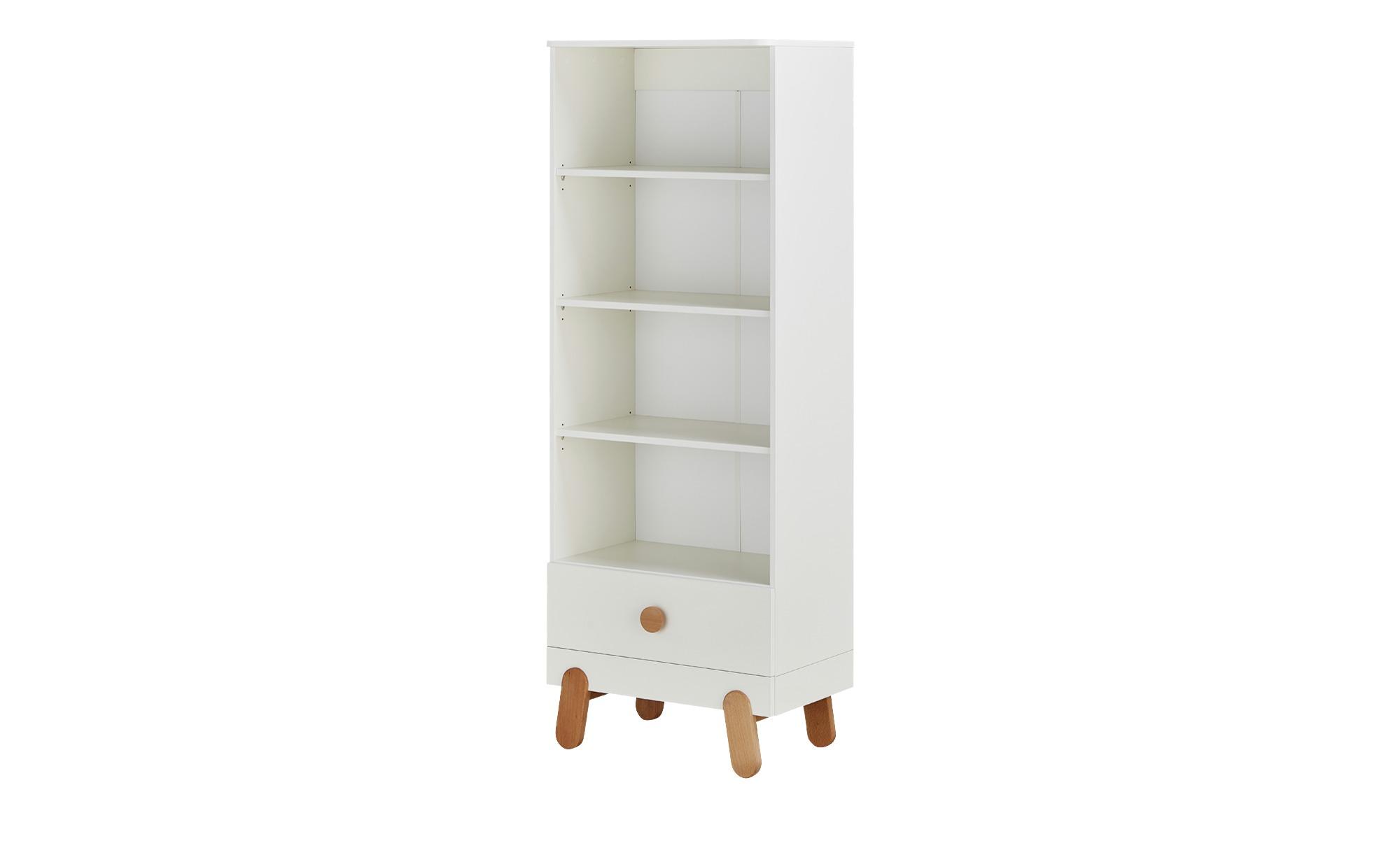 Standregal - weiß - 44 cm - 186 cm - 44 cm - Regale > Bücherregale - Möbel Kraft   Wohnzimmer > Regale > Einzelregale   Sconto