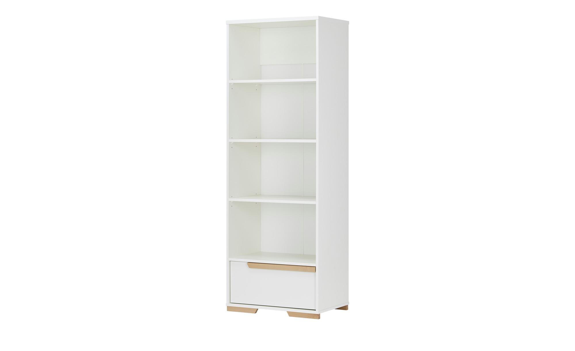 Standregal - weiß - 70,5 cm - 195 cm - 45 cm - Regale > Bücherregale - Möbel Kraft   Wohnzimmer > Regale > Einzelregale   Sconto