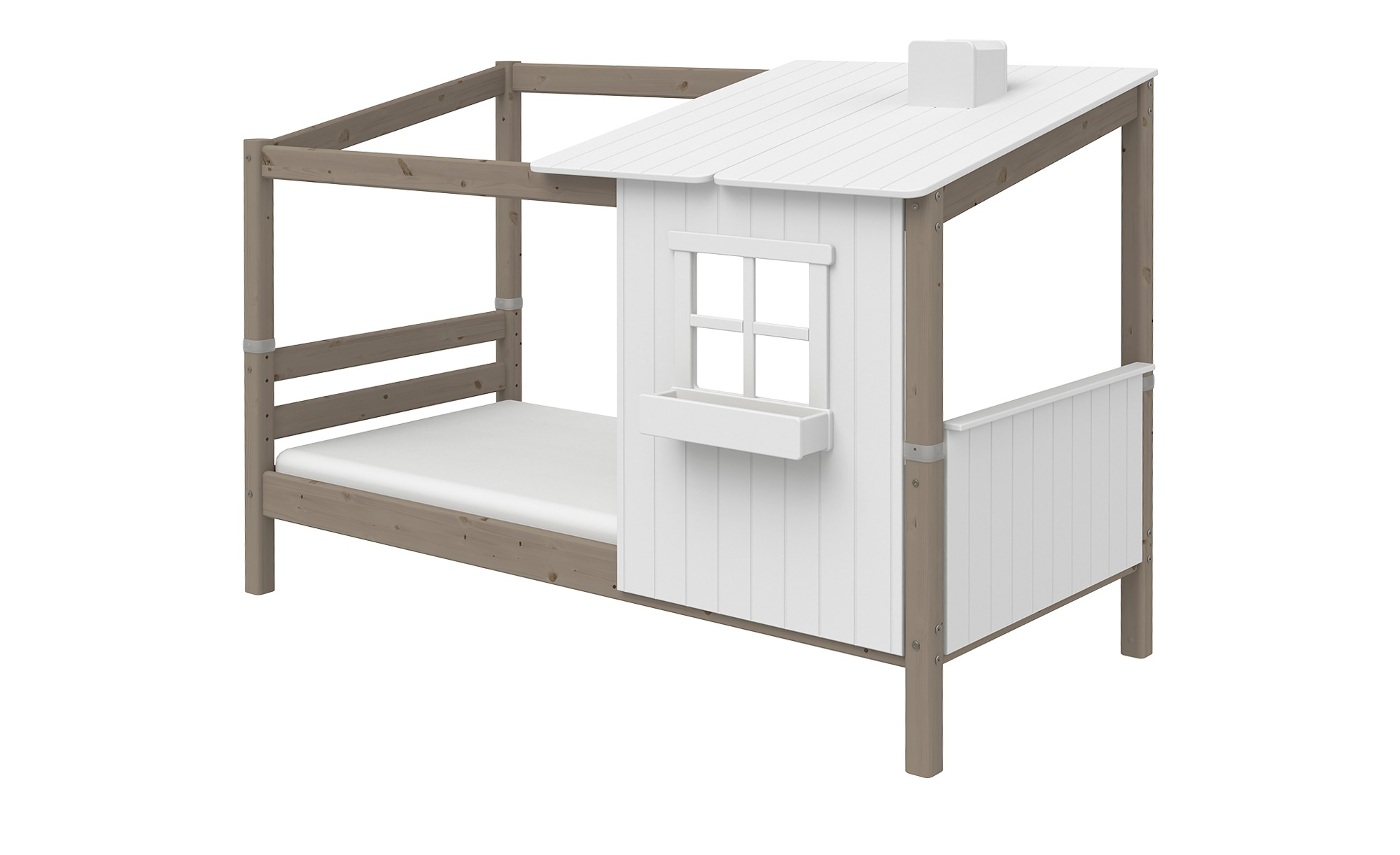 FLEXA Bettgestell  Flexa Classic Haus - holzfarben - 112 cm - 154 cm - Jugendmöbel > Jugendbetten - Möbel Kraft | Kinderzimmer > Jugendzimmer > Jugendbetten | FLEXA