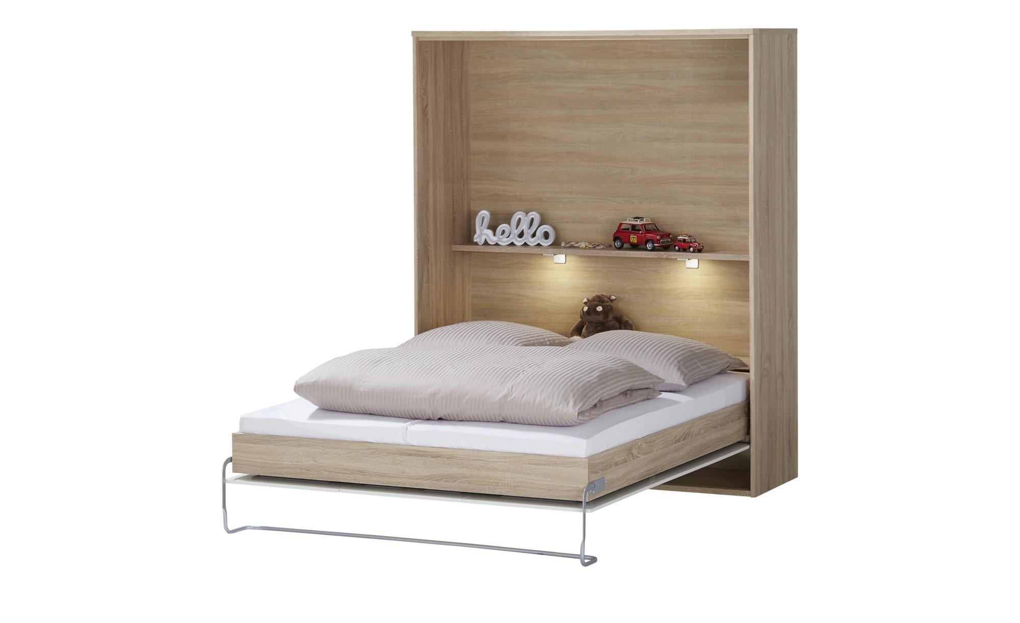 Schrankbett - holzfarben - 173 cm - 211 cm - 60 cm - Betten > Bettgestelle - Möbel Kraft   Schlafzimmer > Betten > Schrankbetten   Sconto