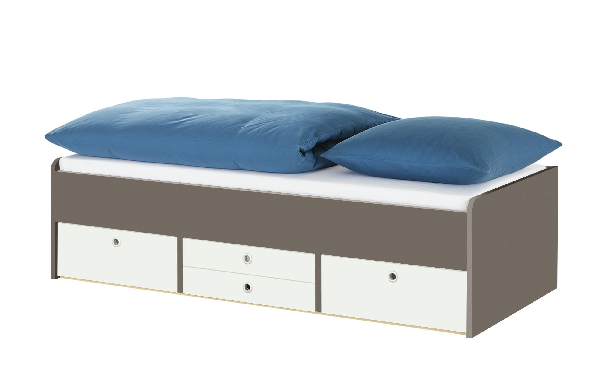 Schubkastenbett - braun - Betten > Bettgestelle - Möbel Kraft günstig online kaufen