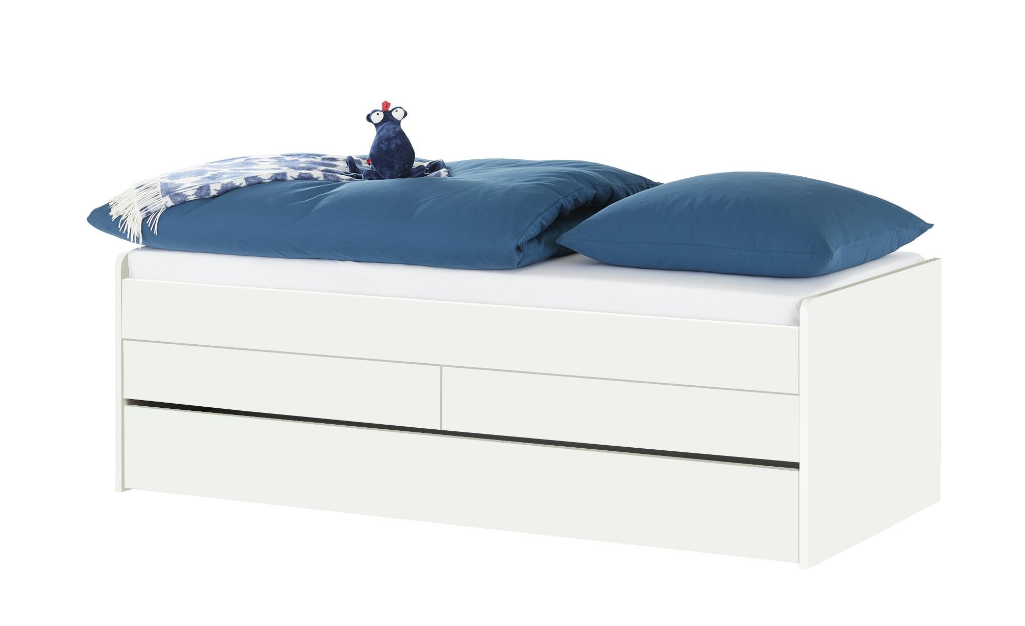 Duobett mit Stauraum - weiß - Betten > Bettgestelle - Möbel Kraft günstig online kaufen
