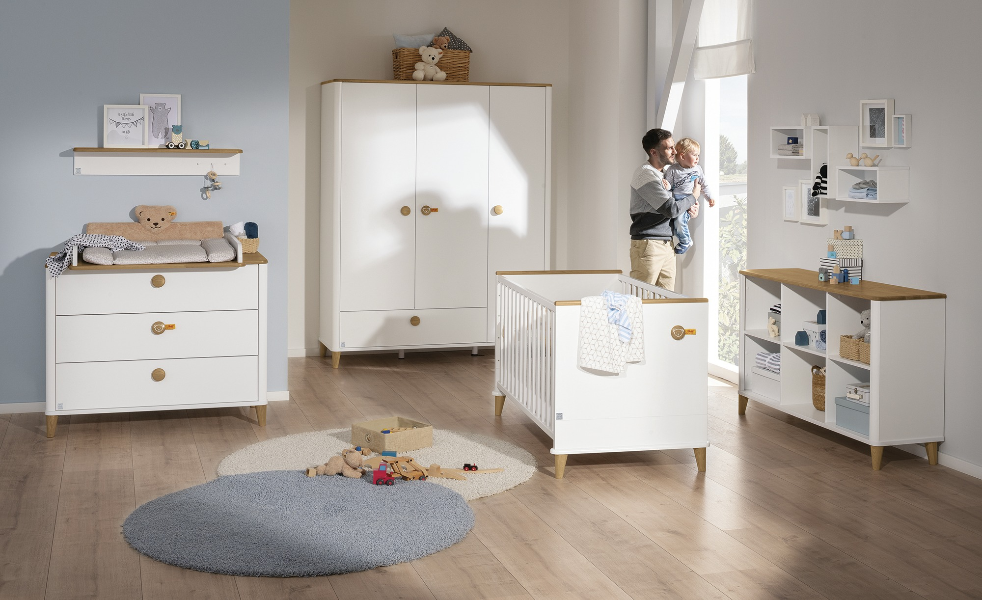PAIDI Babybett  Lotte & Fynn - weiß - 80,4 cm - 84,3 cm - Baby > Babymöbel > Babybetten - Möbel Kraft | Kinderzimmer > Babymöbel > Babybetten & Babywiegen | PAIDI