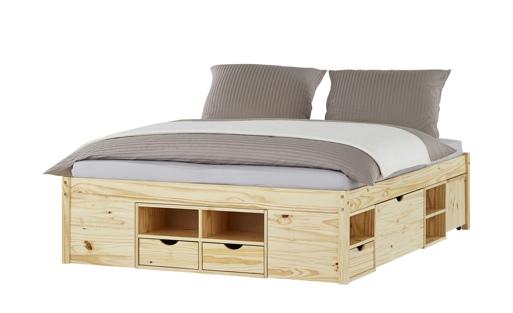 Funktionsbett - holzfarben - 166 cm - 47,5 cm - 209 cm - Betten > Bettgestelle - Möbel Kraft | Schlafzimmer > Betten > Funktionsbetten | Möbel Kraft