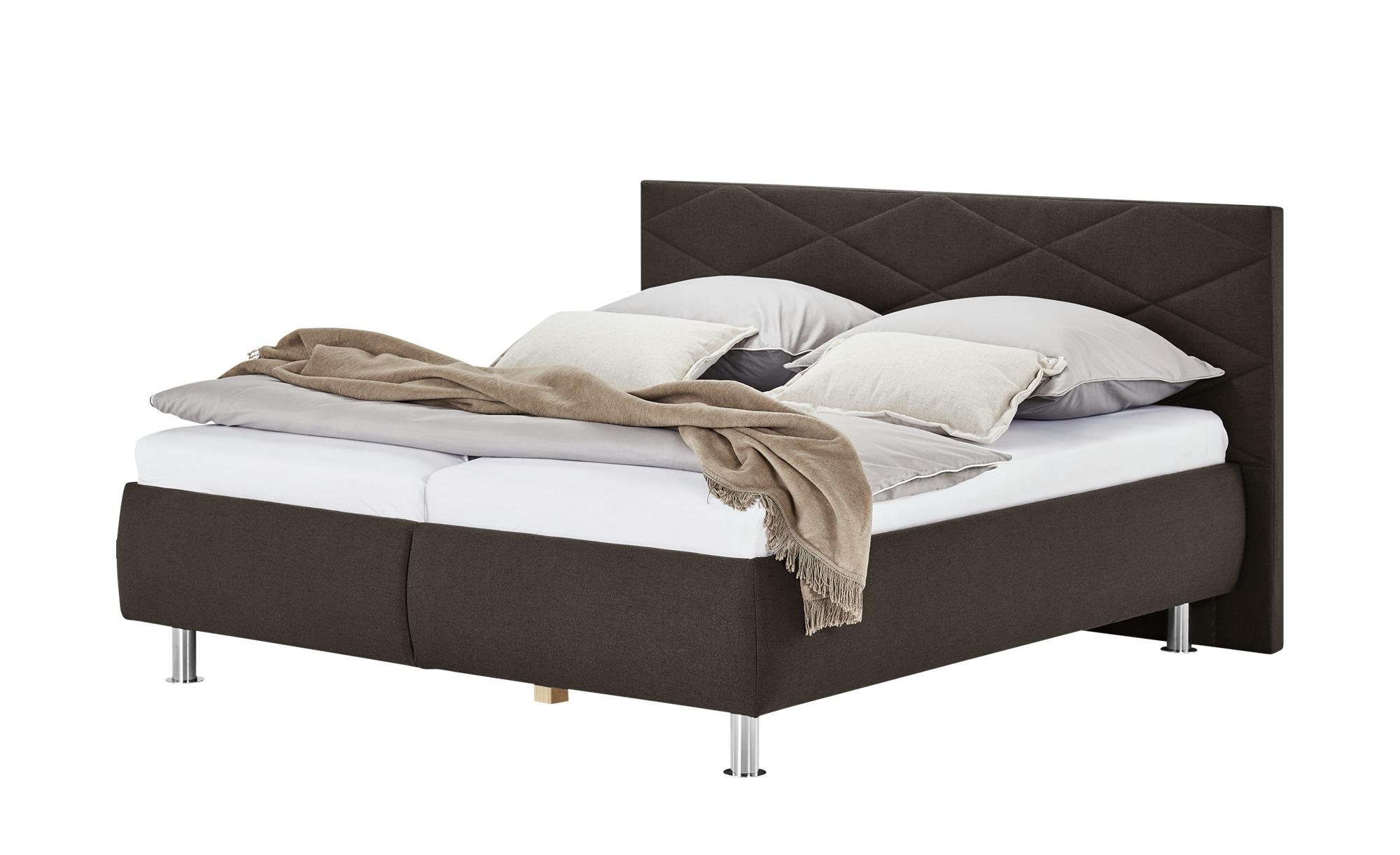 Polsterbett - braun - Betten > Doppelbetten - Möbel Kraft günstig online kaufen