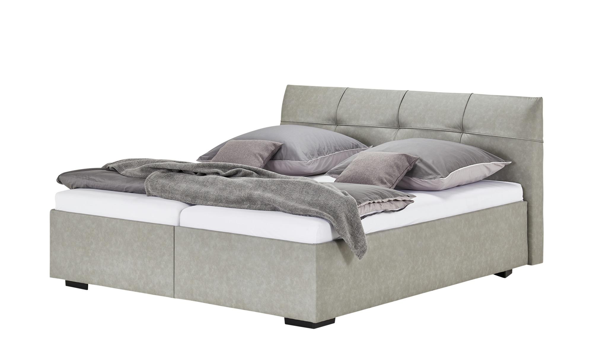 Polsterbett - grau - 210 cm - 98 cm - Betten > Doppelbetten - Möbel Kraft | Schlafzimmer > Betten > Polsterbetten | Sconto