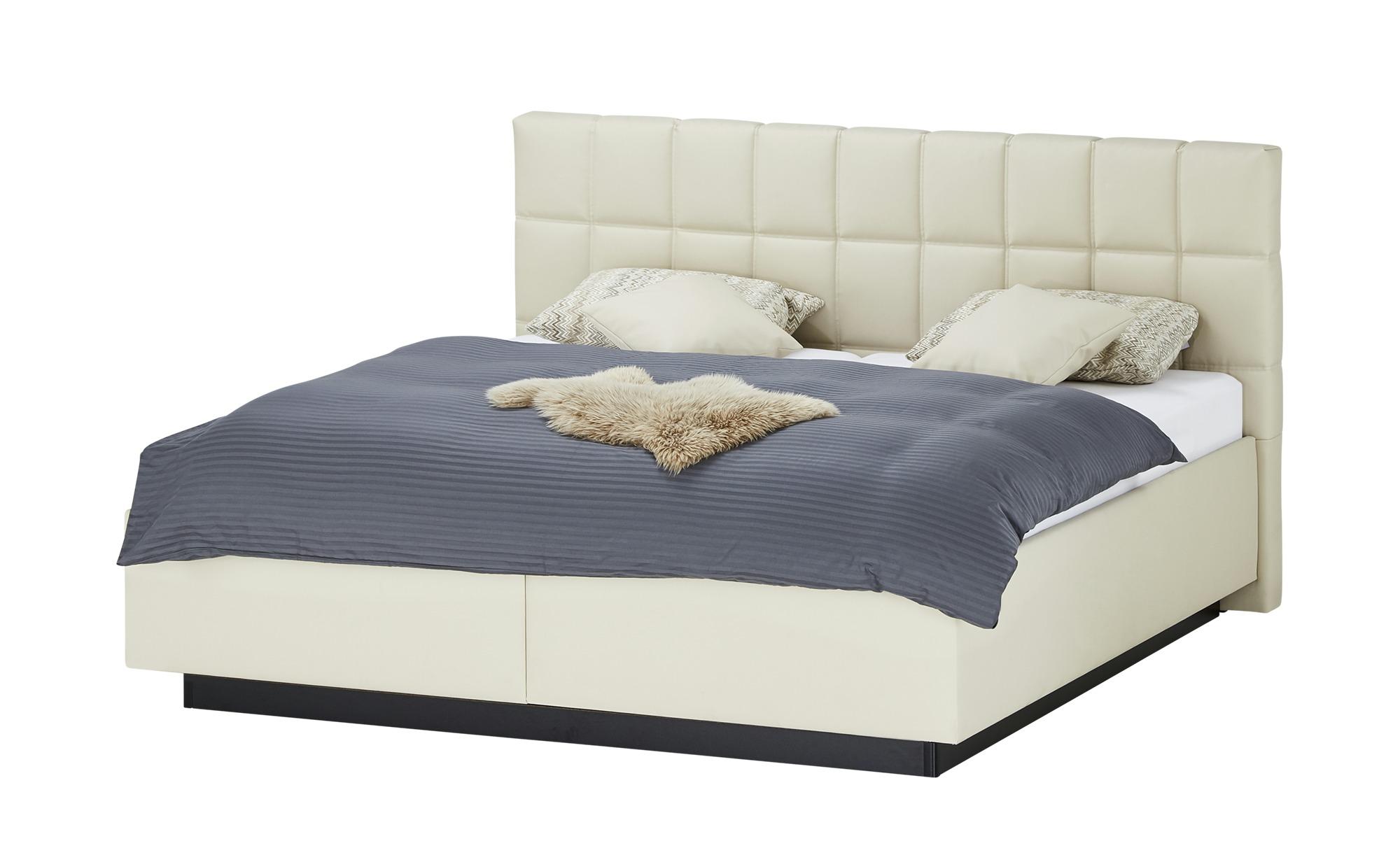 Polsterbett - creme - 214 cm - 119 cm - Betten > Doppelbetten - Möbel Kraft | Schlafzimmer > Betten > Polsterbetten | Sconto