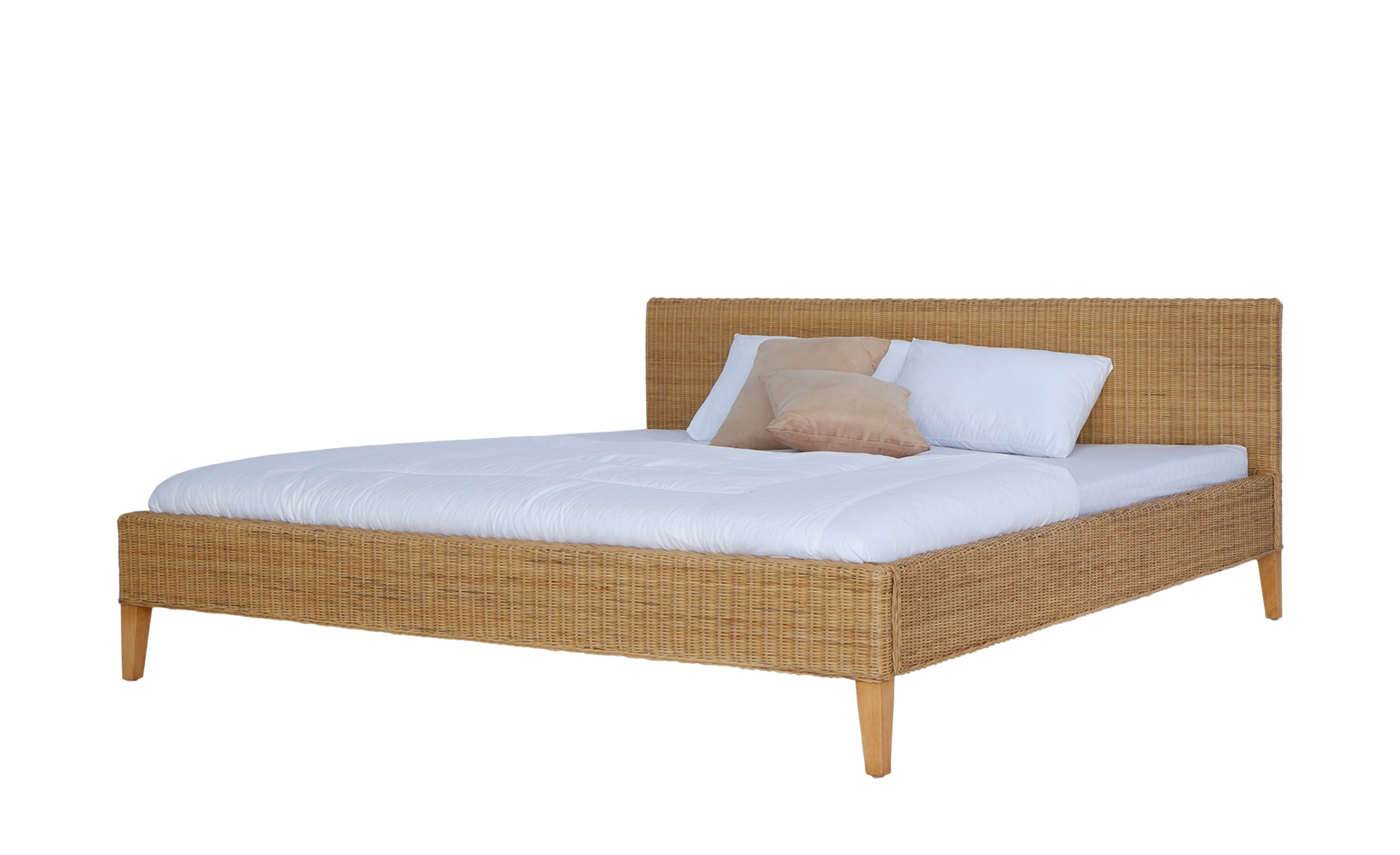 Rattan-Bettgestell - holzfarben - 192 cm - 76 cm - 210 cm - Betten > Bettgestelle - Möbel Kraft | Schlafzimmer > Betten > Rattanbetten | Sconto