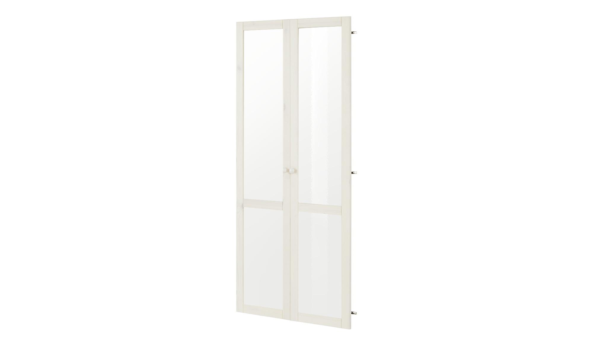 Glastüren 2er-Set - weiß - 200 cm - Sonstiges Zubehör - Möbel Kraft | Wohnzimmer > Vitrinen > Glasvitrinen | Möbel Kraft