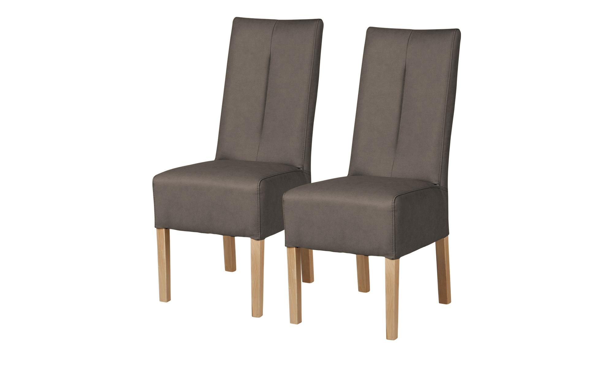 Polsterstuhl 2er Set Eiche braun - braun - 44 cm - 103 cm - 63 cm - Stühle > Esszimmerstühle - Möbel Kraft | Küche und Esszimmer > Stühle und Hocker > Polsterstühle | Möbel Kraft