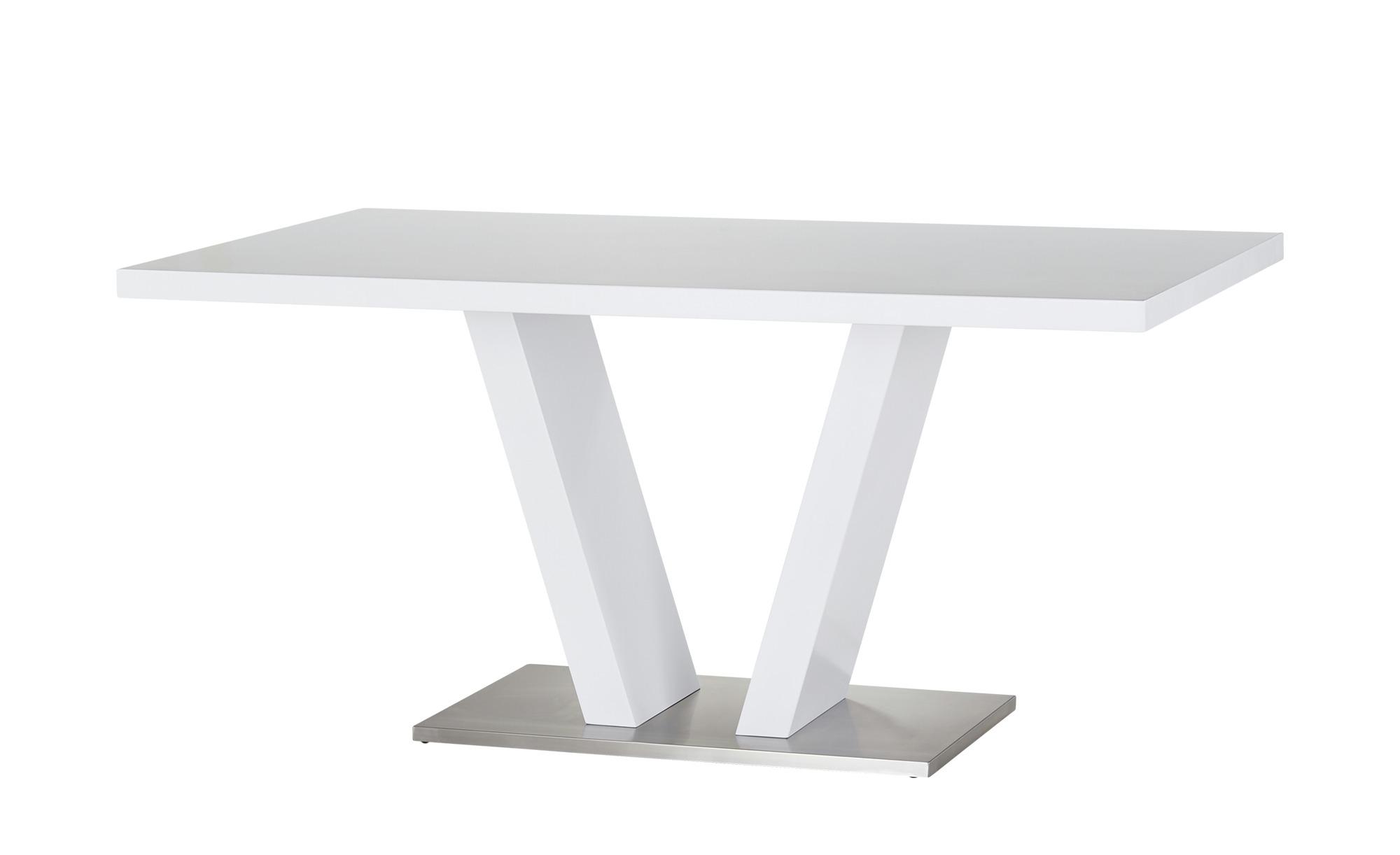uno Säulentisch  Duri - weiß - 90 cm - 76 cm - Tische > Esstische - Möbel Kraft | Küche und Esszimmer > Esstische und Küchentische | uno