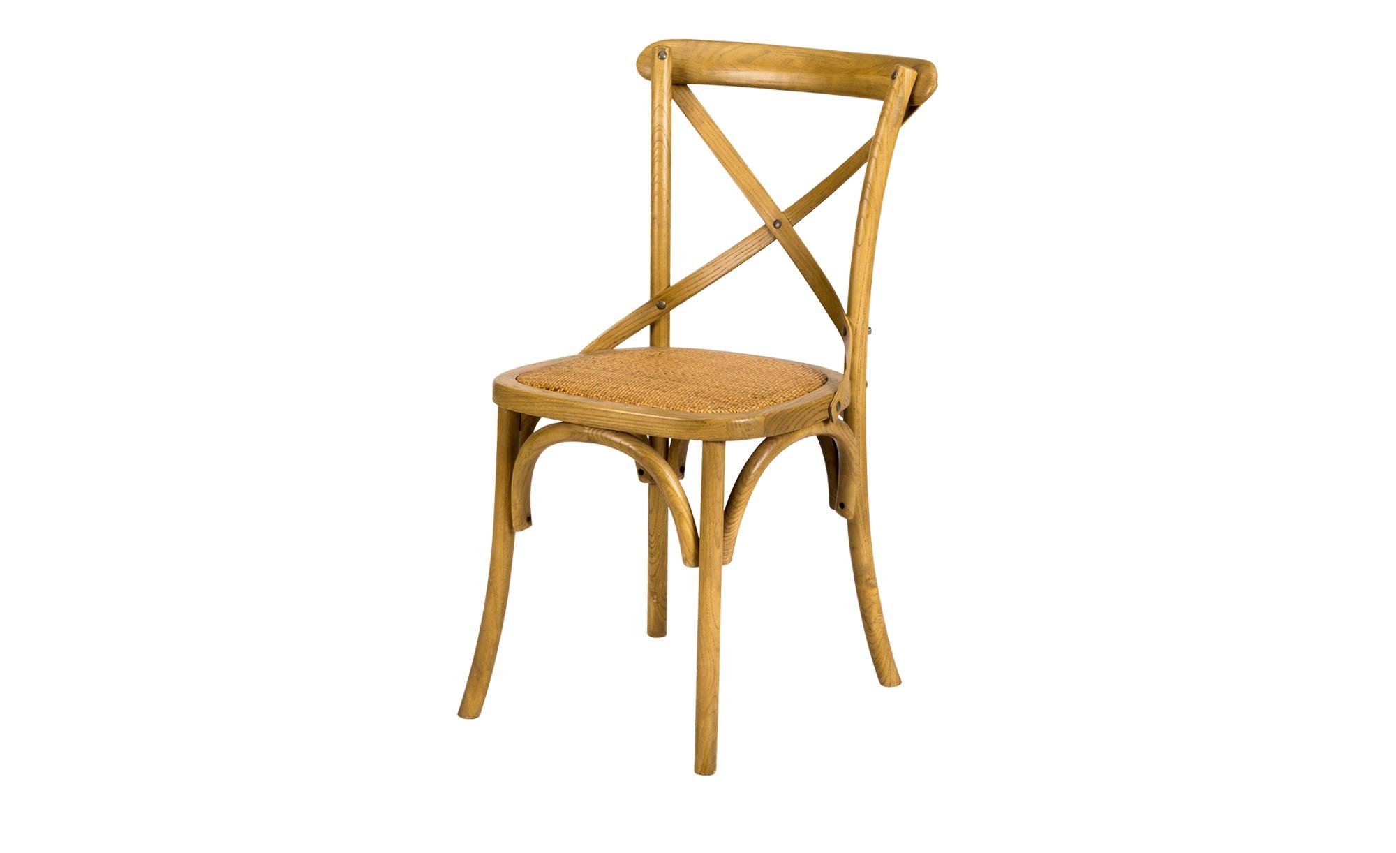 Holz Stuhl Mit Rattan Sitzflache Natur Mobel Kraft