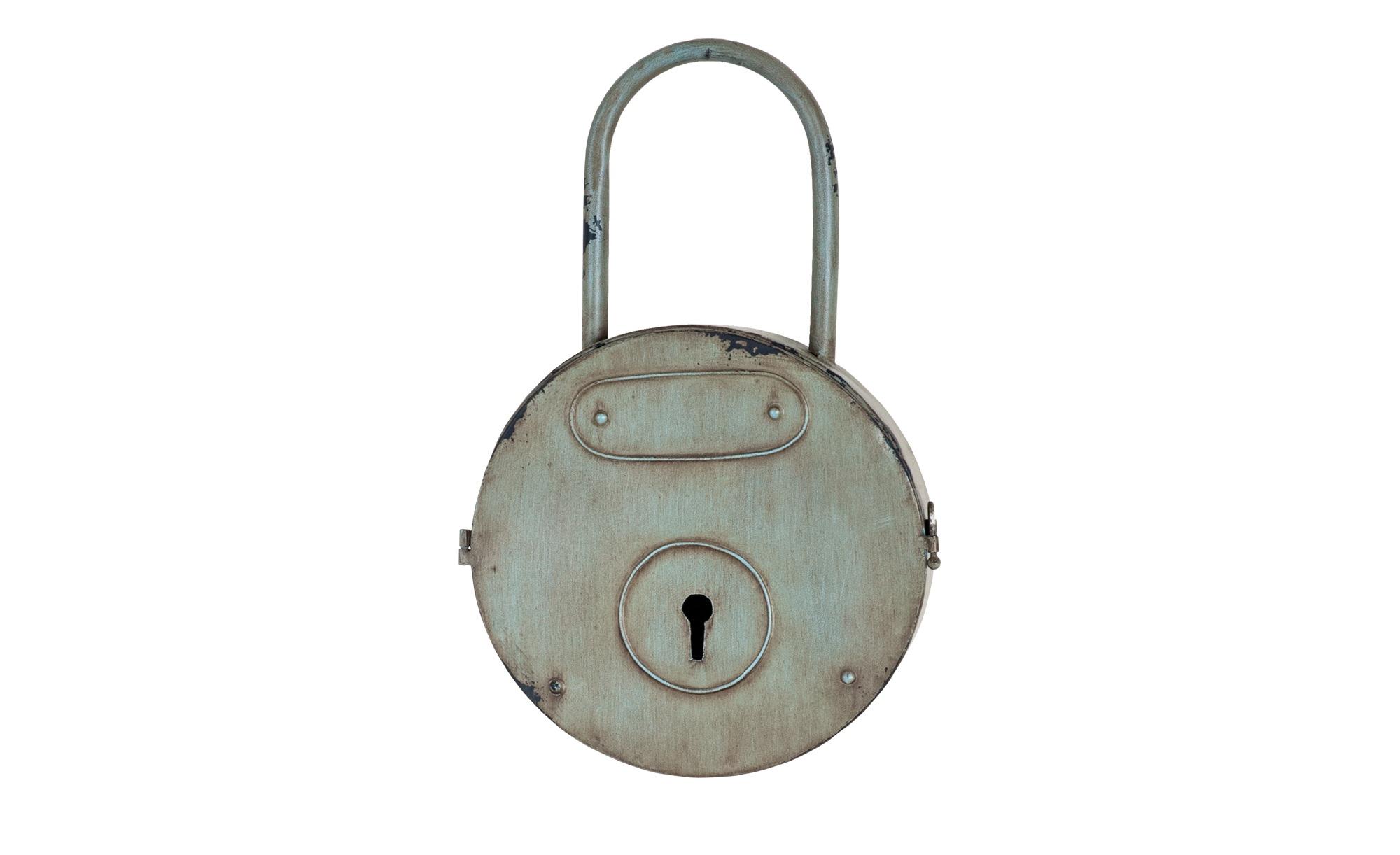 Schlüsselkasten - grau - Metall - 27 cm - 44 cm - 8 cm - Sale > Haushalt Sale - Möbel Kraft | Flur & Diele > Schlüsselkästen | Sconto