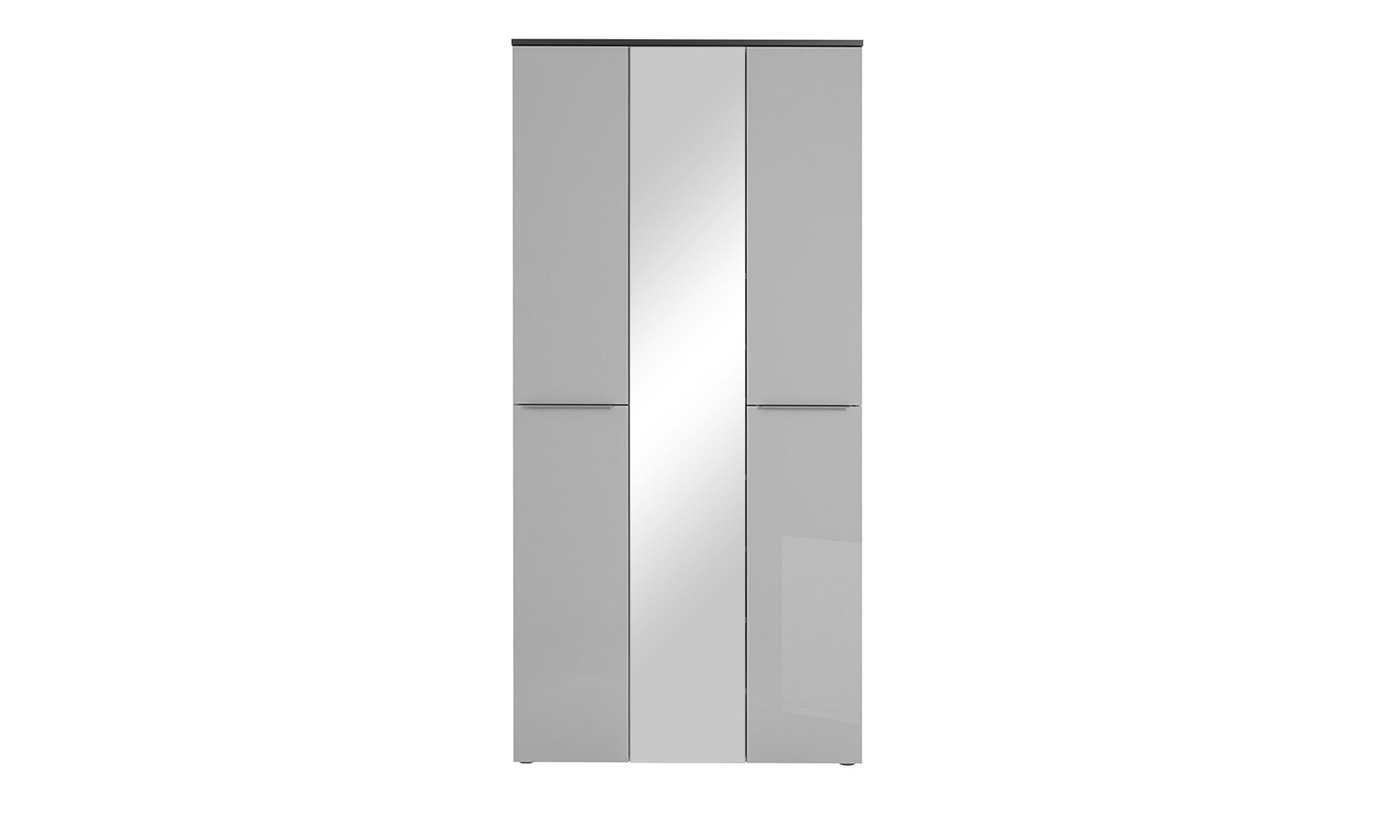 Garderobenschrank - grau - 90,2 cm - 195,7 cm - 40 cm - Schränke > Garderobenschränke - Möbel Kraft | Flur & Diele > Garderoben > Garderobenschränke | Möbel Kraft