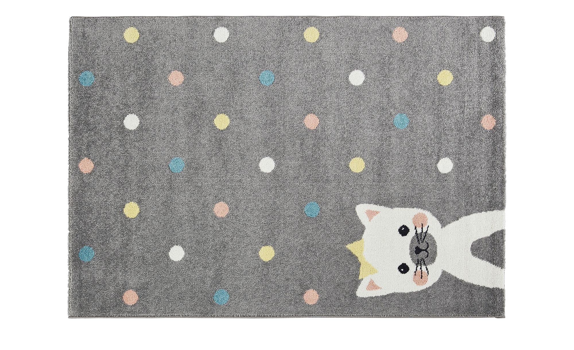 Uups Kinderteppich  Miau - grau - 100% Polypropylen - 120 cm - Dekoration > Geschenkartikel > Geschenke für Bodenschatz-Sucher - Möbel Kraft | Kinderzimmer > Kinderzimmerdekoration | Uups