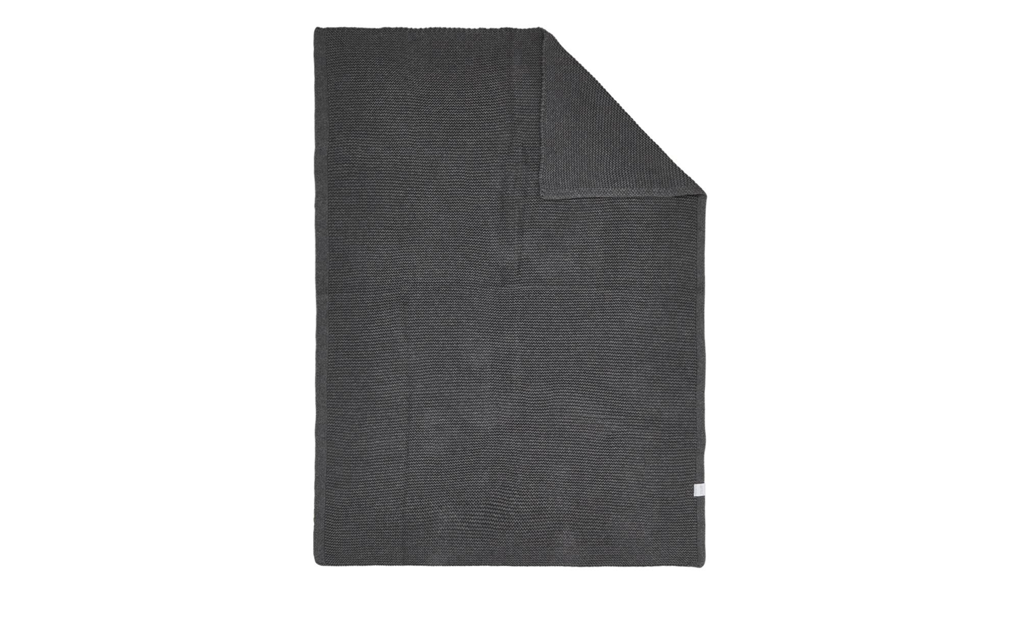 Babystrickdecke - grau - 100% Baumwolle - 75 cm - Baby > Baby Textilien > Babydecken - Möbel Kraft | Kinderzimmer > Textilien für Kinder > Babytextilien | Sconto