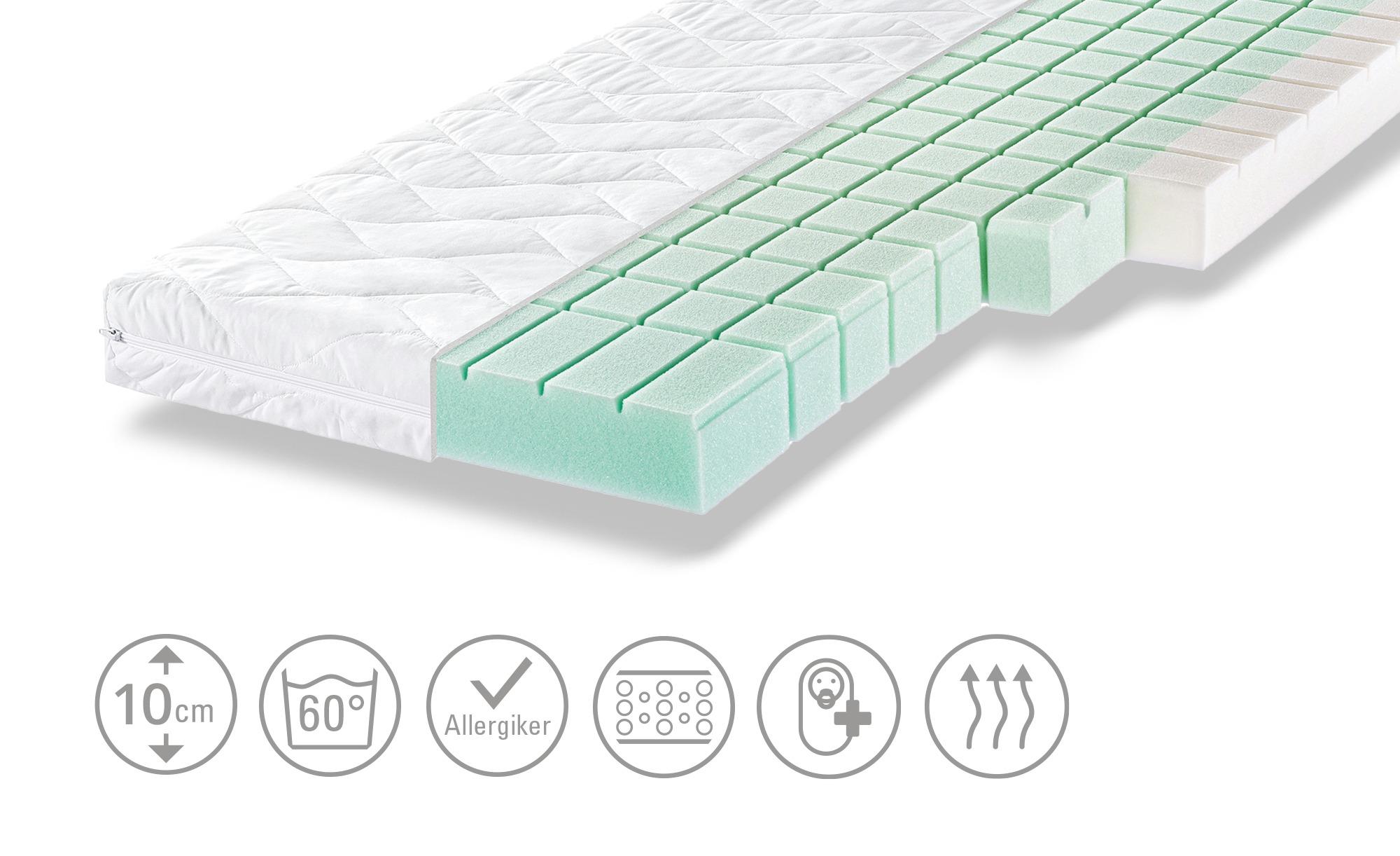 Zöllner Kinderbettmatratze  Dream - weiß - Bezug: 65% Polyester, 35% Baumwolle - 60 cm - 10 cm - Baby > Babymöbel > Babymatratzen - Möbel Kraft | Kinderzimmer > Textilien für Kinder > Kinderbettwäsche | Zöllner