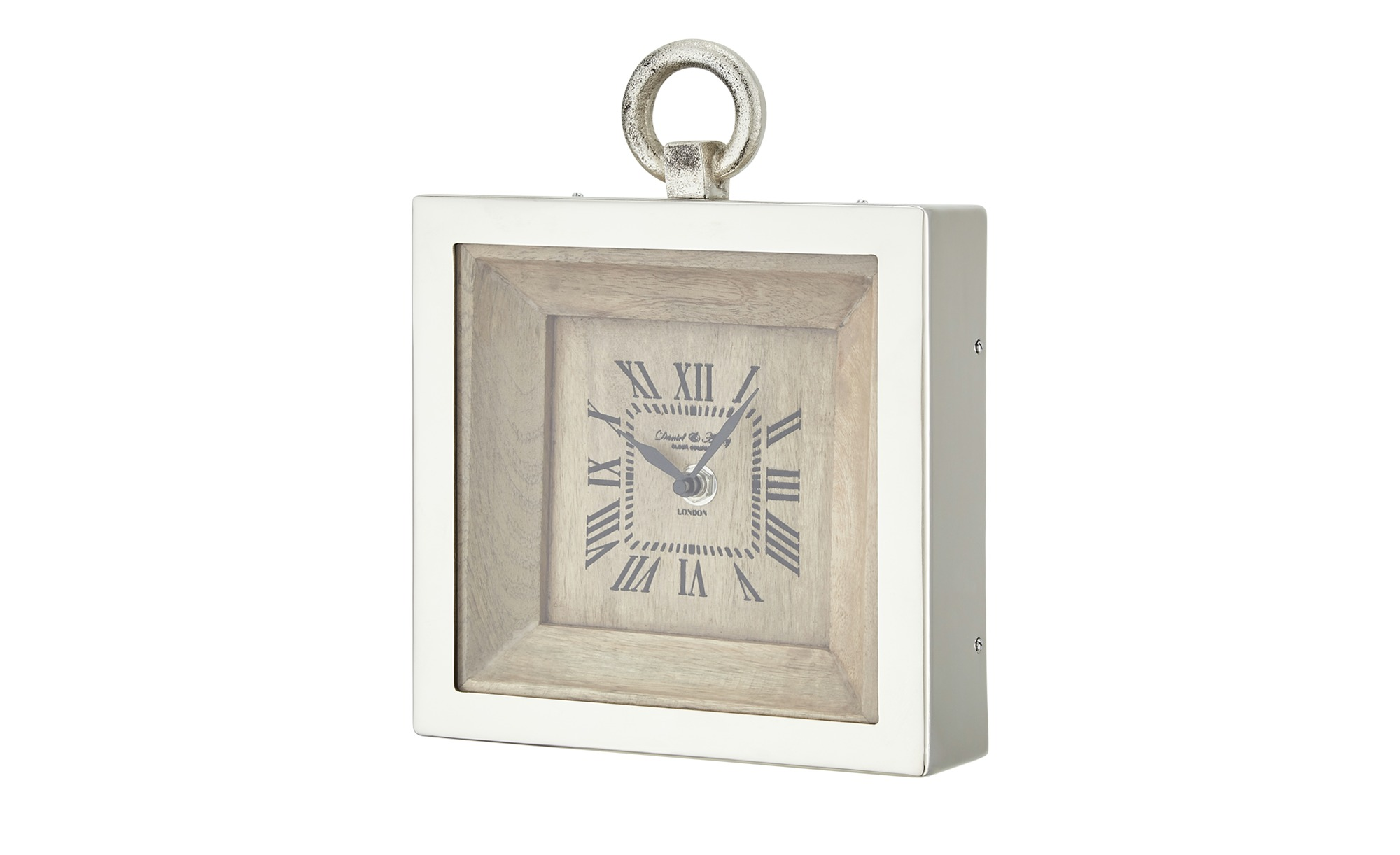 Tischuhr - holzfarben - 18,5 cm - 24 cm - 5 cm - Dekoration > Uhren & Wetterstationen - Möbel Kraft | Dekoration > Uhren > Standuhren | Sconto