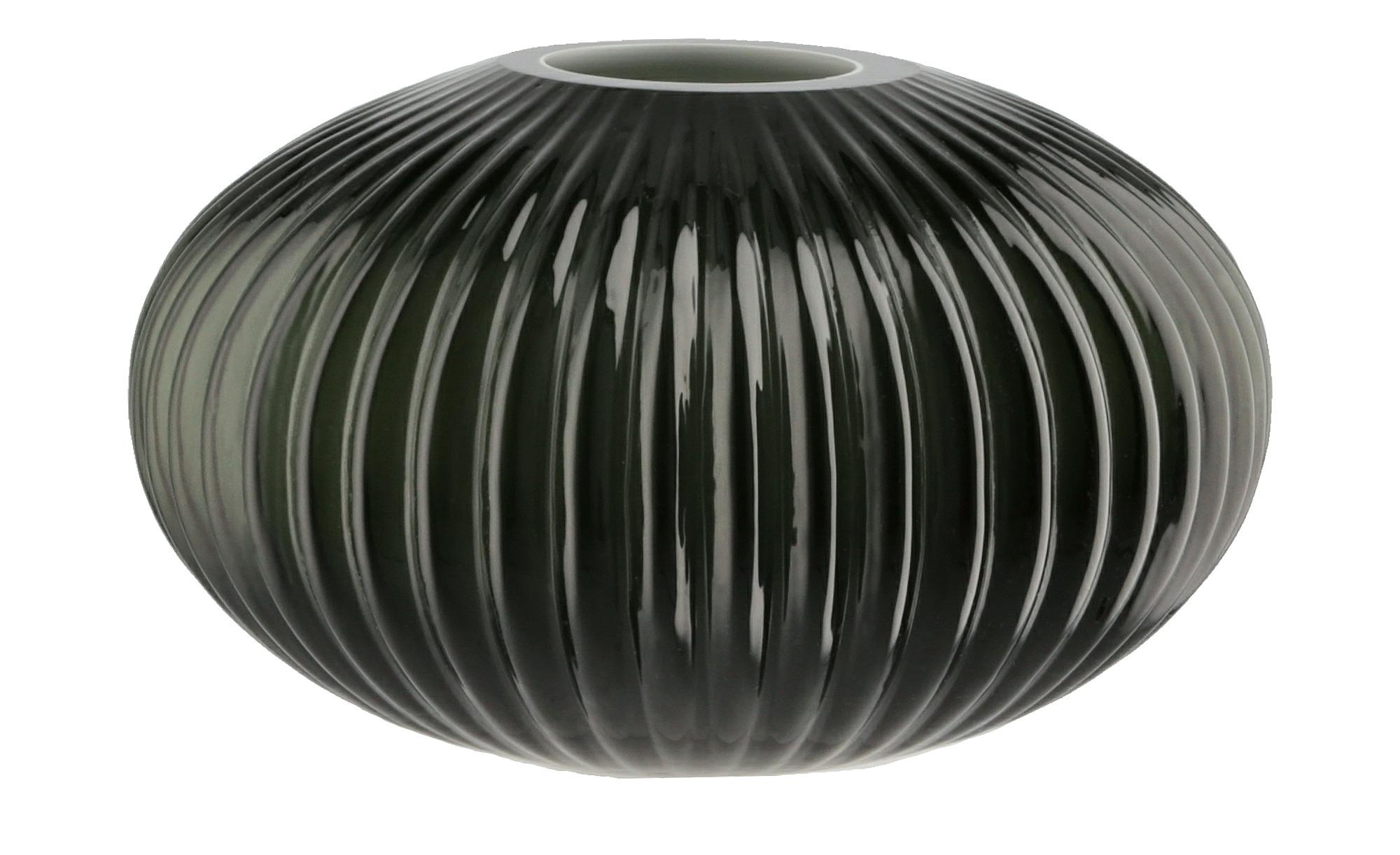 Vase - grau - Glas - 10 cm - Dekoration > Vasen - Möbel Kraft | Dekoration > Vasen > Tischvasen | Möbel Kraft