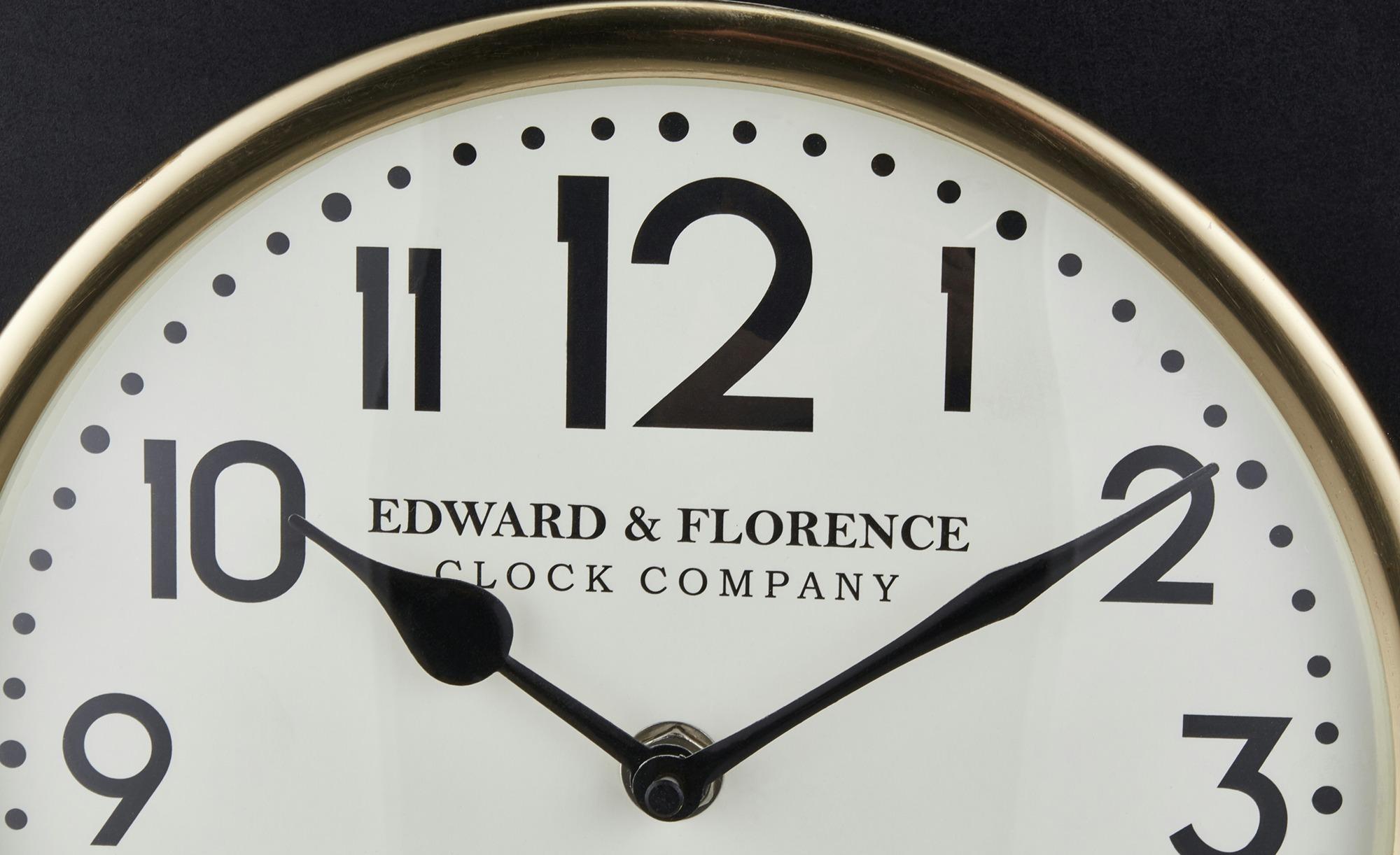 Uhr - gold - 30 cm - 38 cm - 8 cm - Dekoration > Uhren & Wetterstationen - Möbel Kraft | Baumarkt > Heizung und Klima > Klimageräte | Sconto