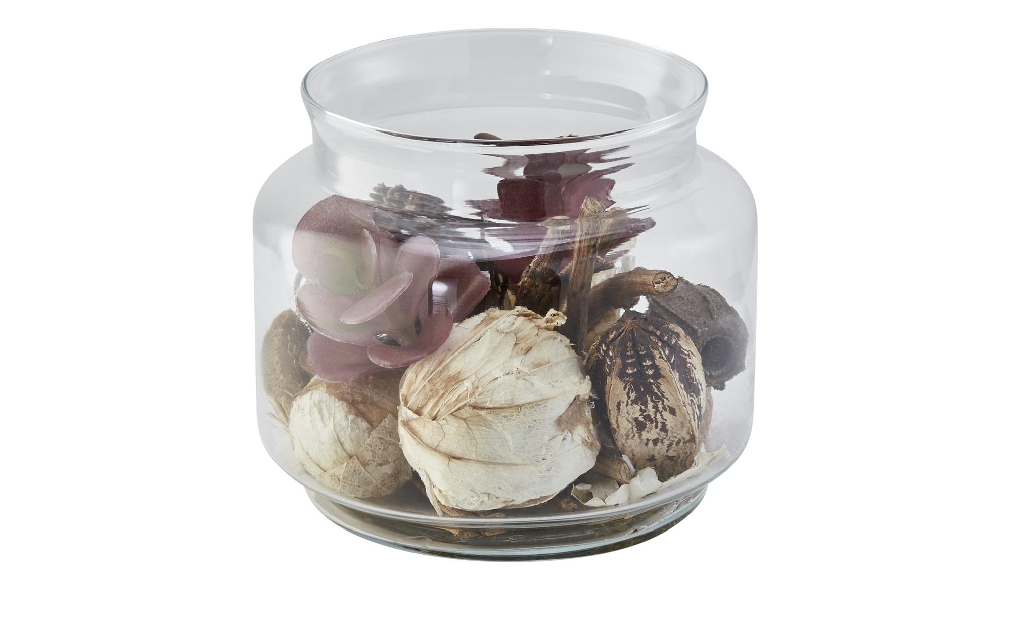 Sukkulente im Glas - grün - Silikon, Glas , Kunststoff - 13,5 cm - Dekoration > Kunstblumen - Möbel Kraft   Dekoration > Dekopflanzen > Kunstpflanzen   Sconto