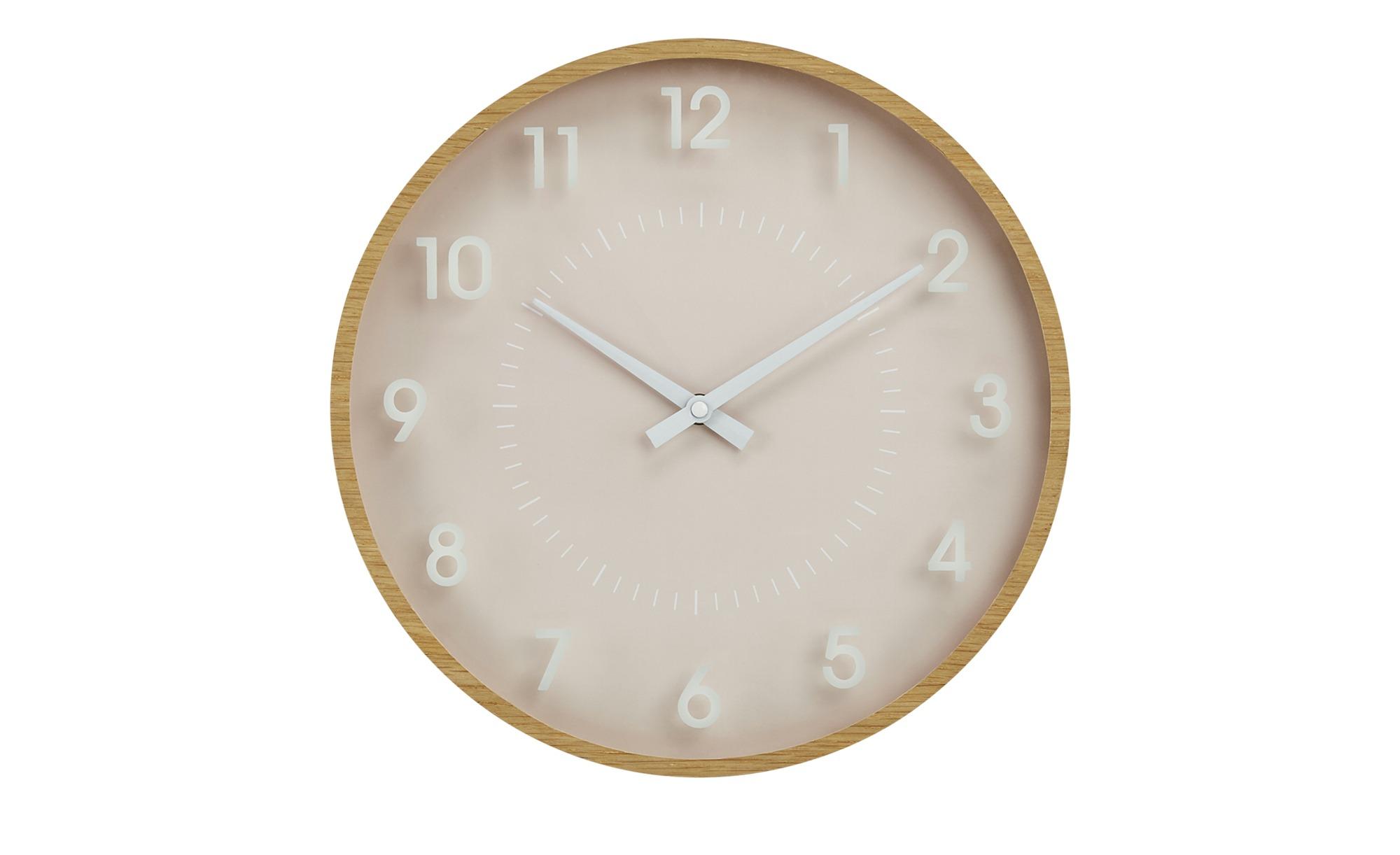 Uhr - rosa/pink - 4 cm - Dekoration > Uhren & Wetterstationen - Möbel Kraft | Baumarkt > Heizung und Klima | Möbel Kraft