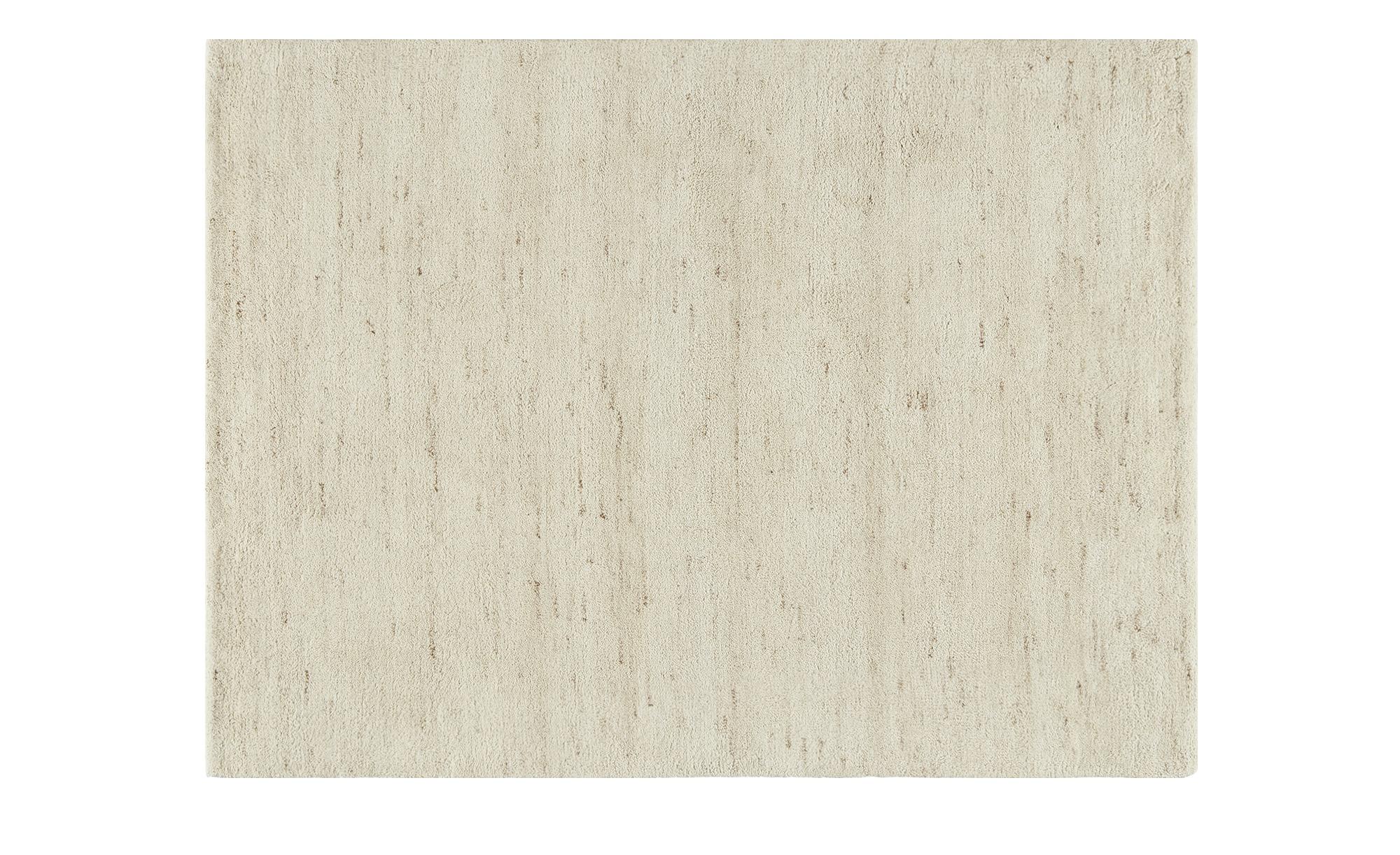 Berber-Teppich - creme - Wolle, 100% Wolle - 140 cm - Teppiche > Wohnteppiche > Naturteppiche - Möbel Kraft | Heimtextilien > Teppiche > Berberteppiche | Möbel Kraft