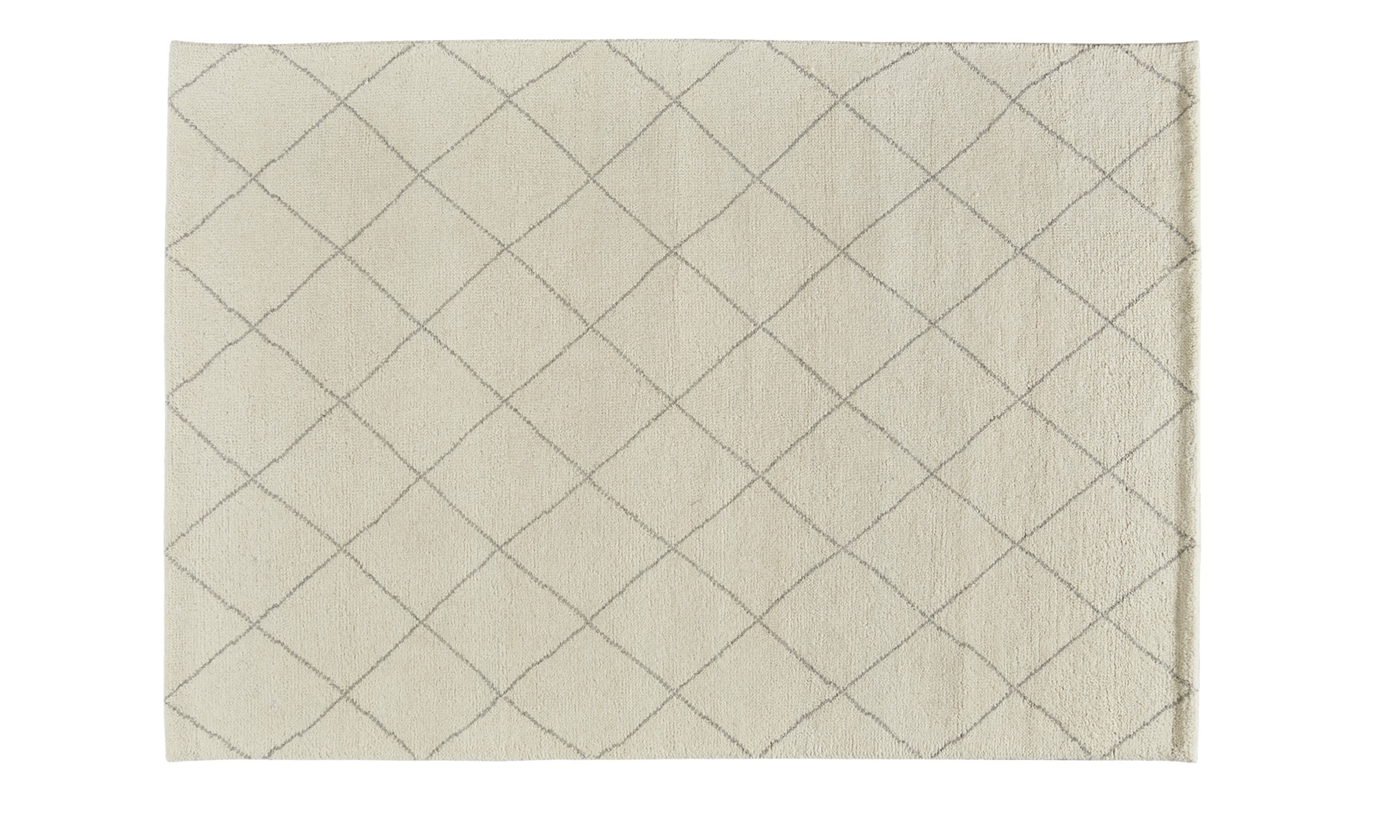 Berber-Teppich  Marrakesh Design simple - weiß - reine Wolle - 120 cm - Teppiche > Wohnteppiche - Möbel Kraft   Heimtextilien > Teppiche > Berberteppiche   Sconto