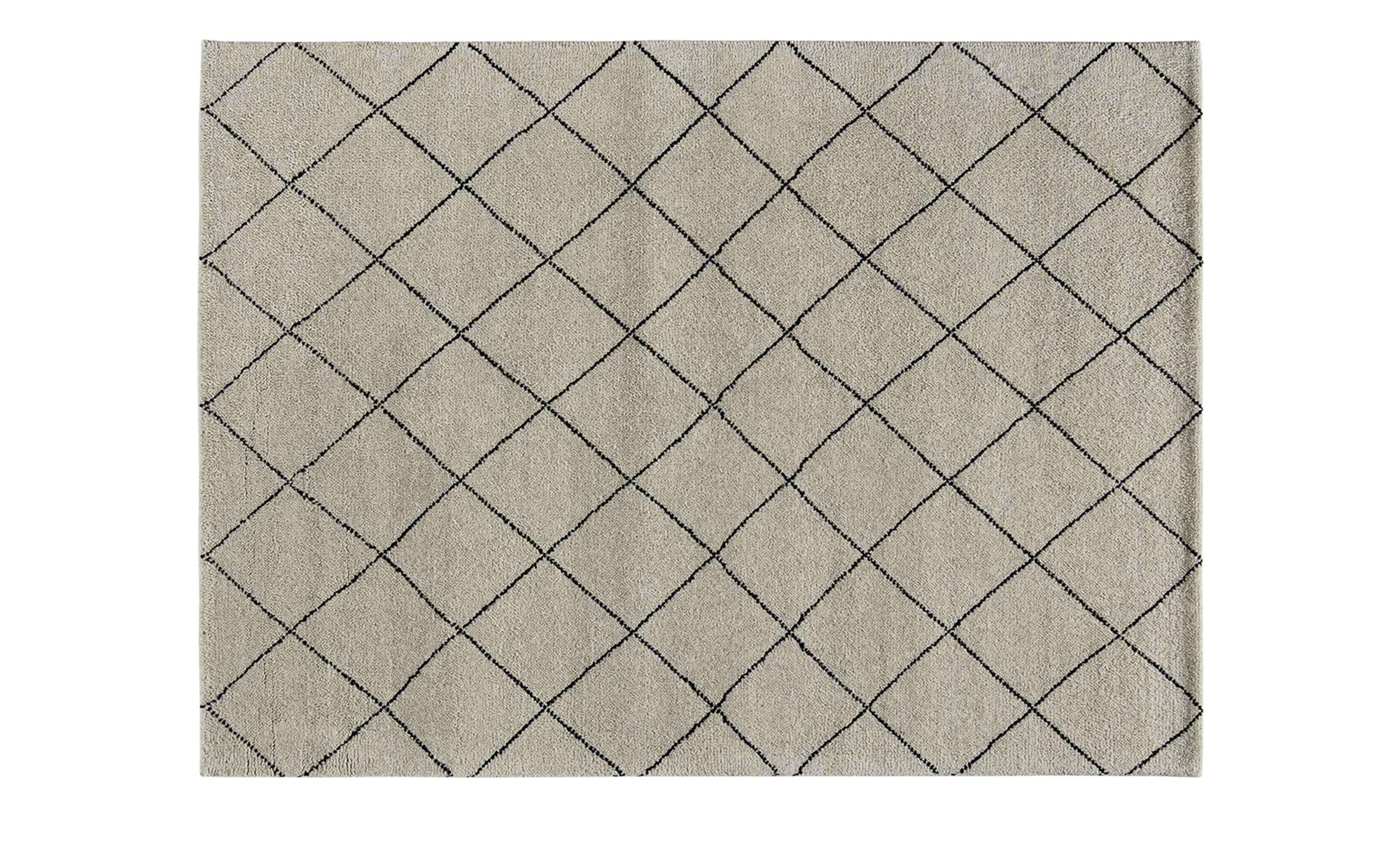 Berber-Teppich  Marrakesh Design simple - grau - reine Wolle - 120 cm - Teppiche > Naturteppiche - Möbel Kraft | Heimtextilien > Teppiche > Berberteppiche | Sconto