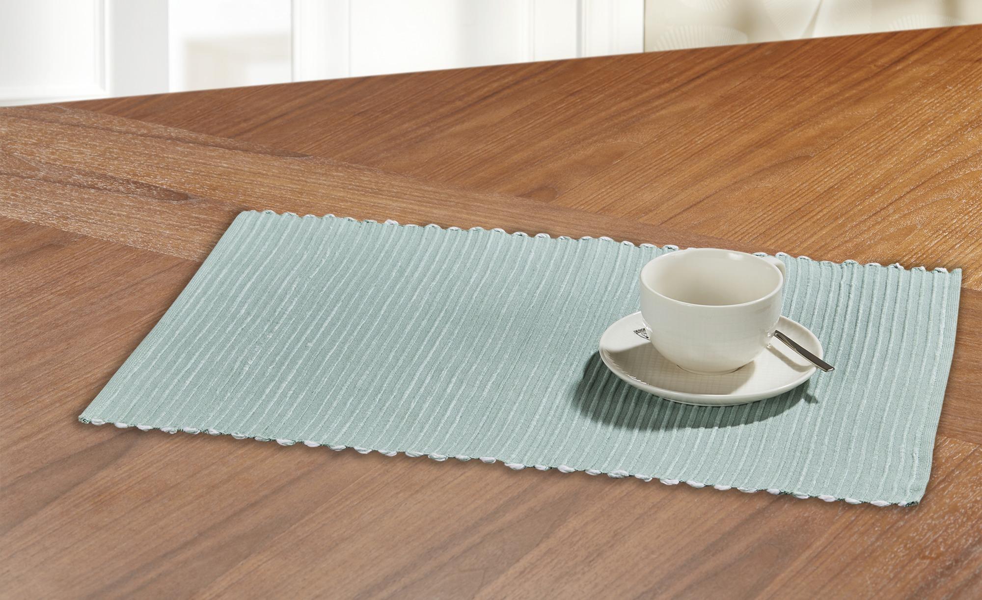 LAVIDA Platzset  Greta - türkis/petrol - Baumwolle - 33 cm - Heimtextilien > Tischwäsche > Platzsets - Möbel Kraft | Heimtextilien > Tischdecken und Co > Platz-Sets | LAVIDA