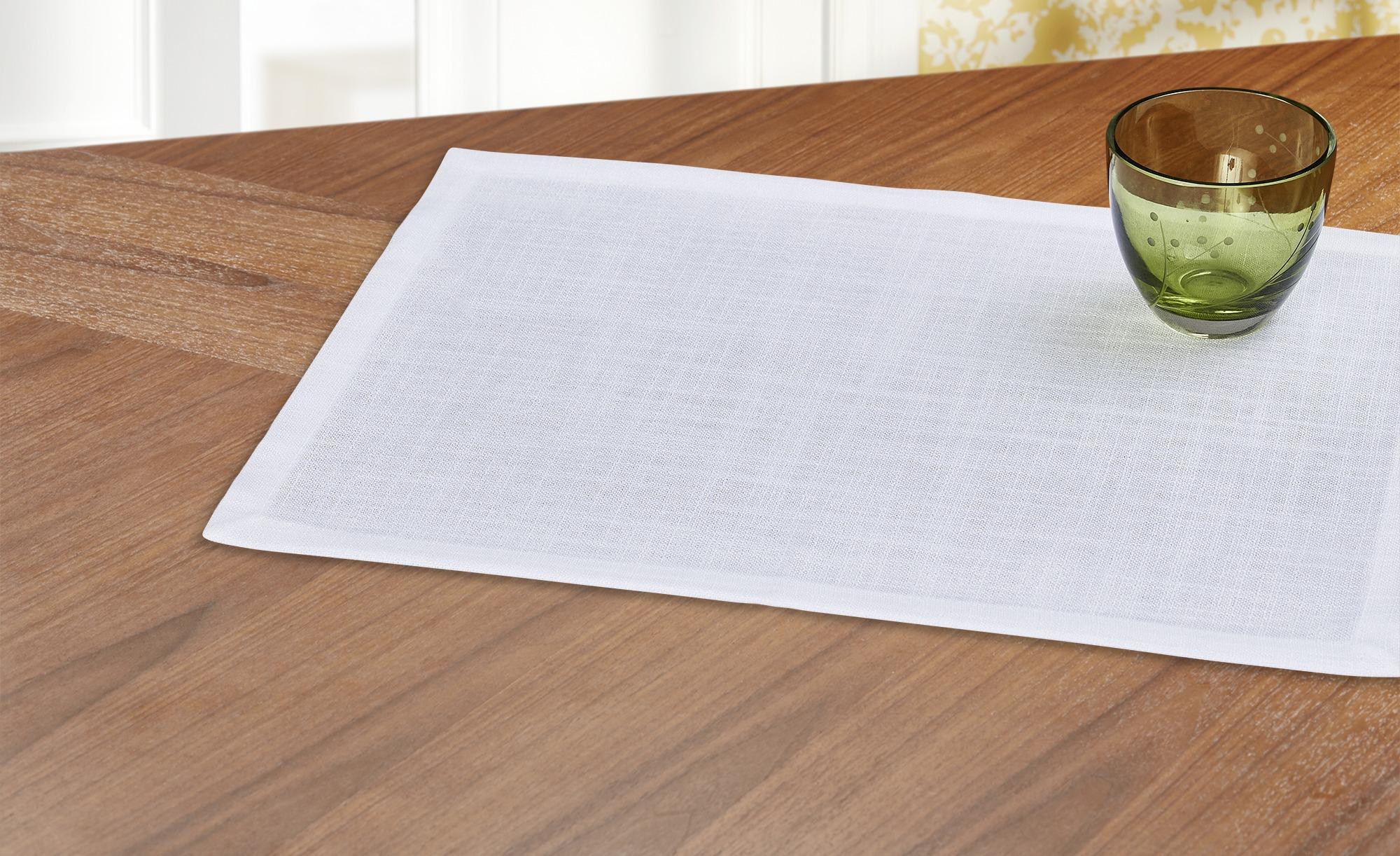 como Platzset  Antique - weiß - 100% Polyester - 35 cm - Heimtextilien > Tischwäsche > Platzsets - Möbel Kraft | Heimtextilien > Tischdecken und Co > Platz-Sets | como