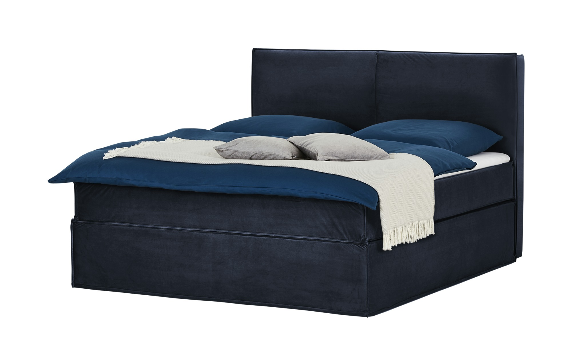 Boxspringbett 180 x 200 cm - blau - Betten > Boxspringbetten > Boxspringbet günstig online kaufen