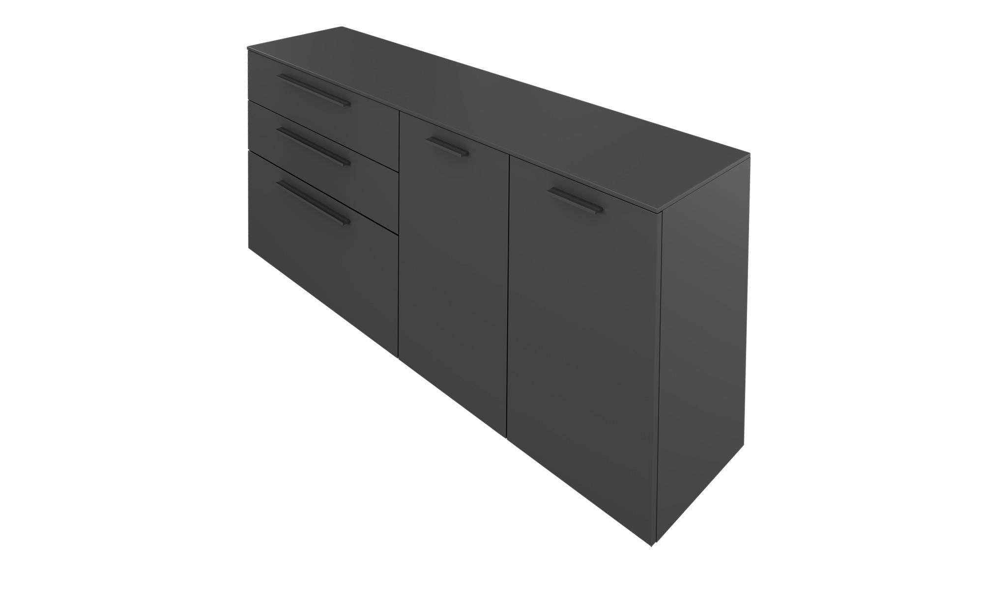 Gallery M Sideboard  Arrive - grau - 181 cm - 81 cm - 43 cm - Kommoden & Sideboards > Kommoden - Möbel Kraft | Wohnzimmer > Schränke | Gallery M
