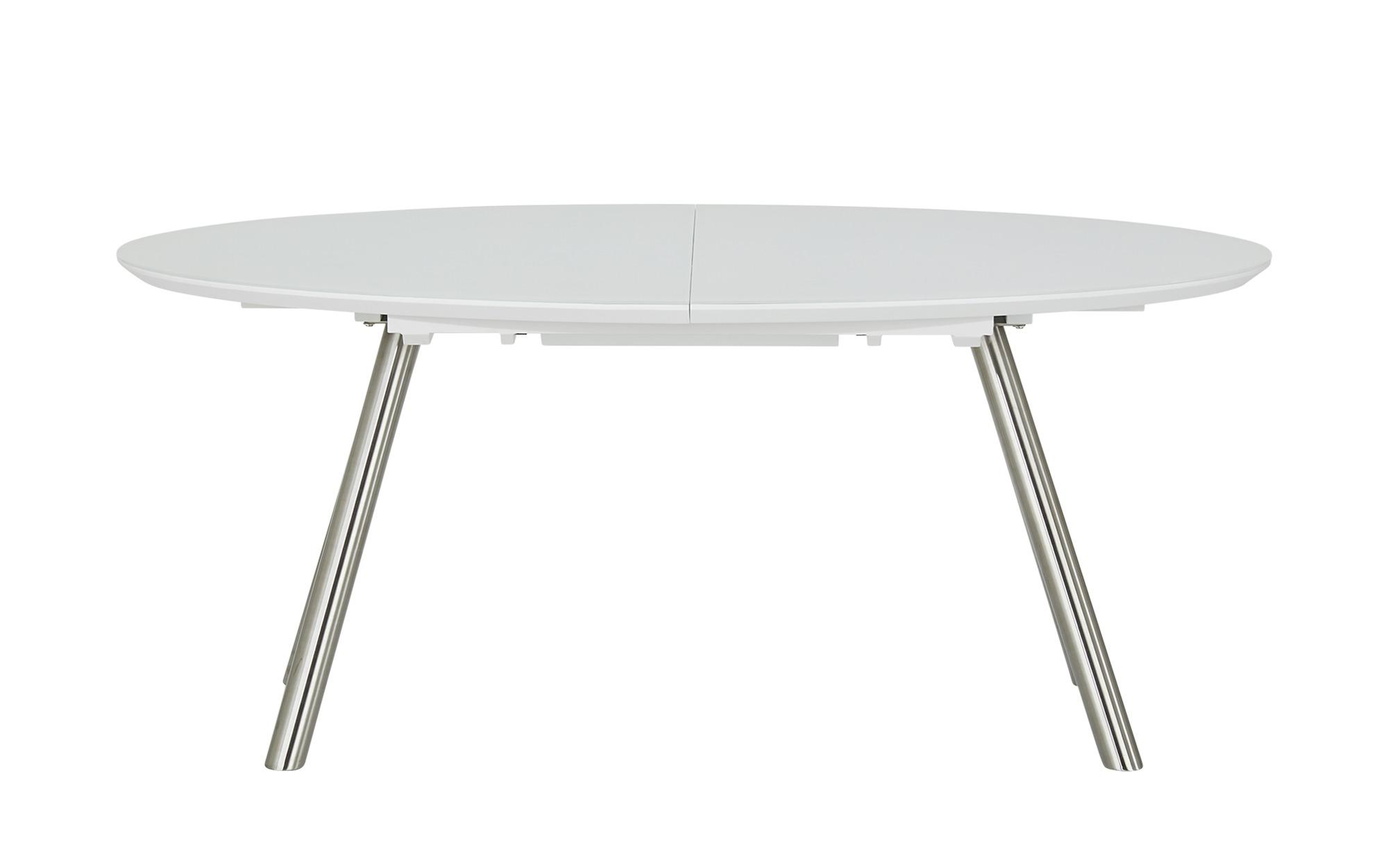 uno Glastisch ausziehbar  Doug-2 - weiß - 105 cm - 76,5 cm - Tische > Esstische - Möbel Kraft   Wohnzimmer > Tische > Glastische   uno