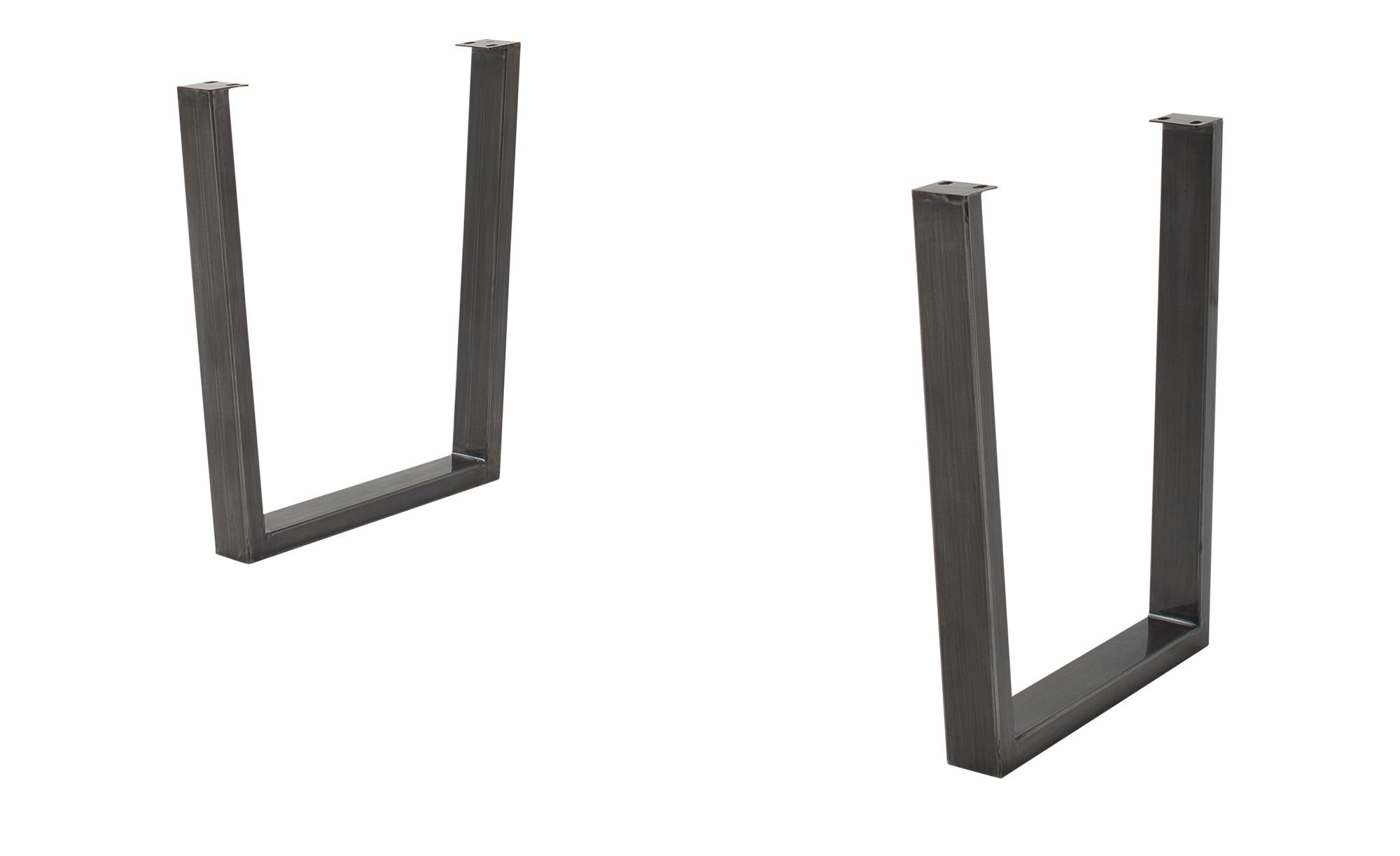 Woodford Tischgestell  Alabria - Metall, gewischt - 73 cm - 74 cm - 8 cm - Tische > Tischbeine - Möbel Kraft   Wohnzimmer > Tische > Weitere Tische   Woodford