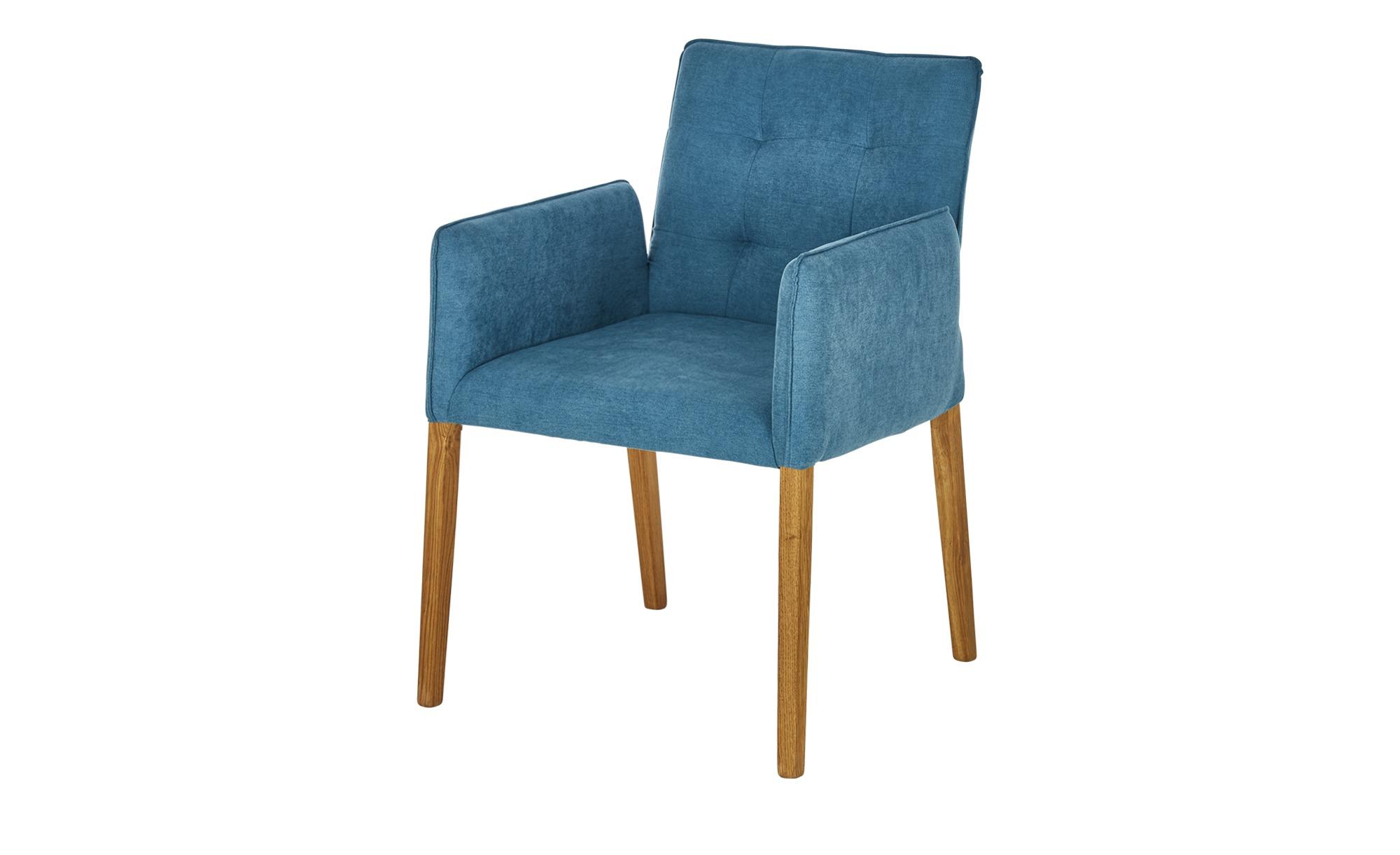 smart Armlehnstuhl - türkis/petrol - 58 cm - 87 cm - 63 cm - Stühle > Esszimmerstühle - Möbel Kraft | Küche und Esszimmer > Stühle und Hocker > Armlehnstühle | smart