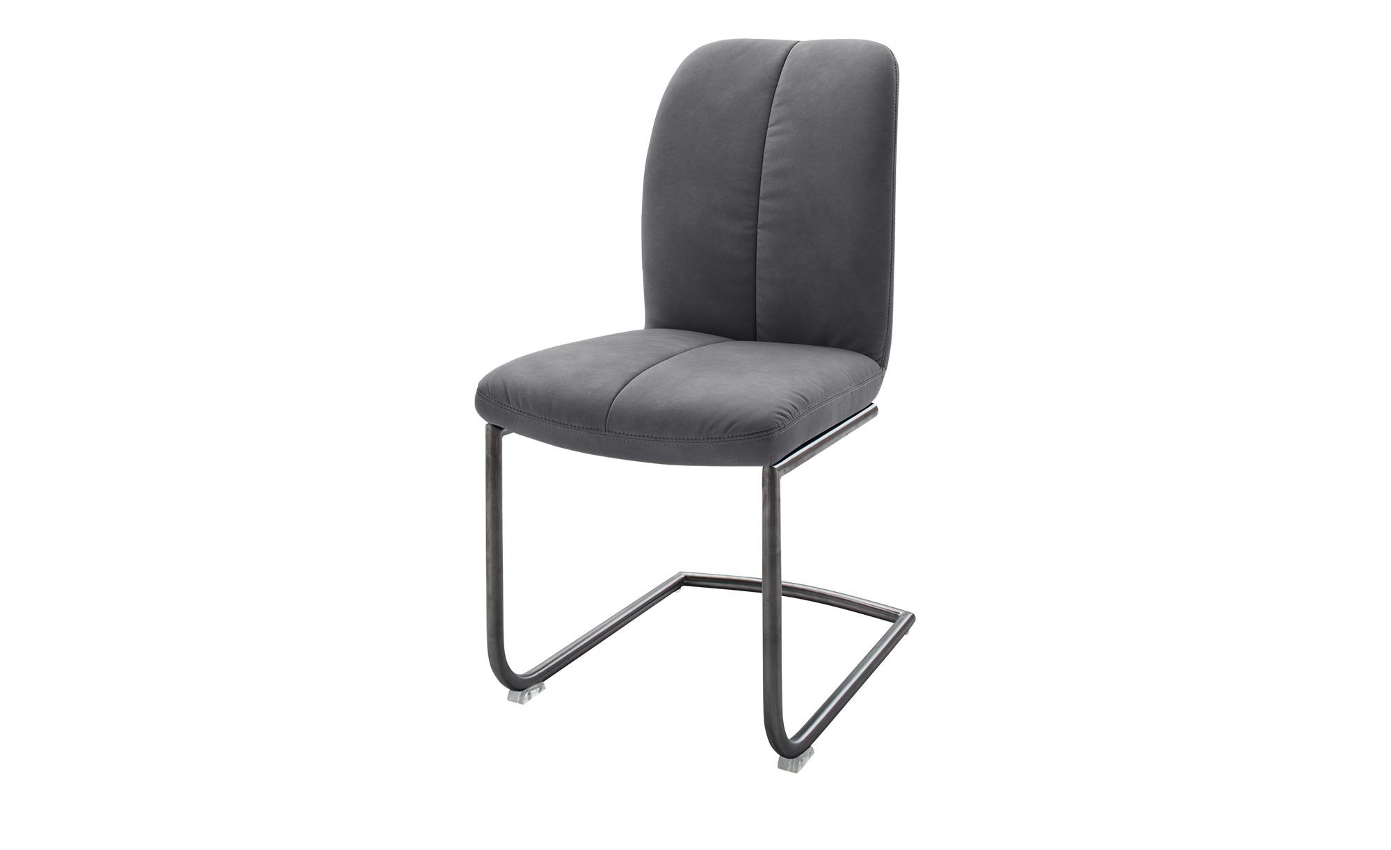 Stuhl grau 46 cm 102 cm 58 cm Stühle > Esszimmerstühle Möbel Kraft