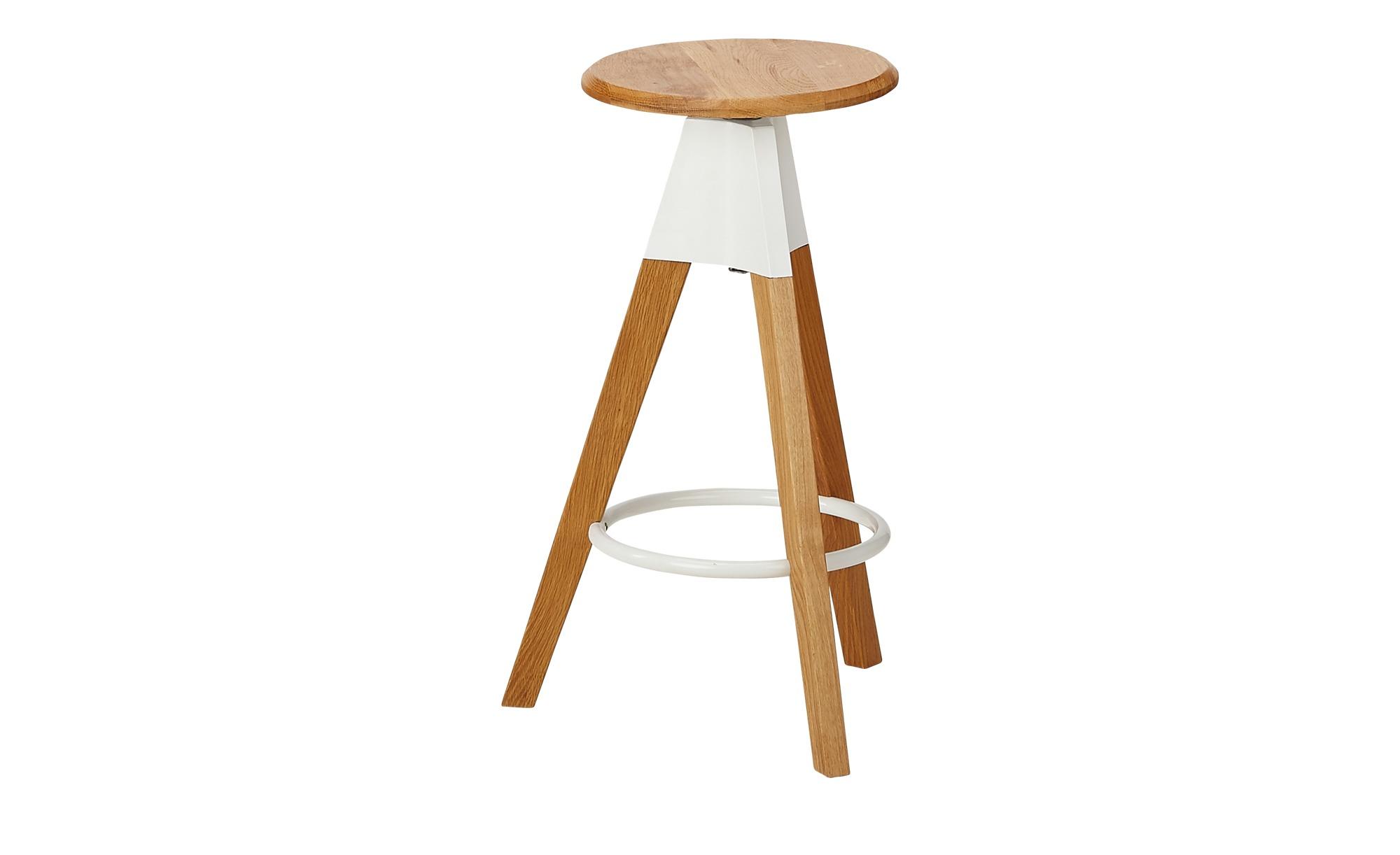 Barhocker verstellbar Eichenholz - holzfarben - Stühle > Barhocker - Möbel günstig online kaufen