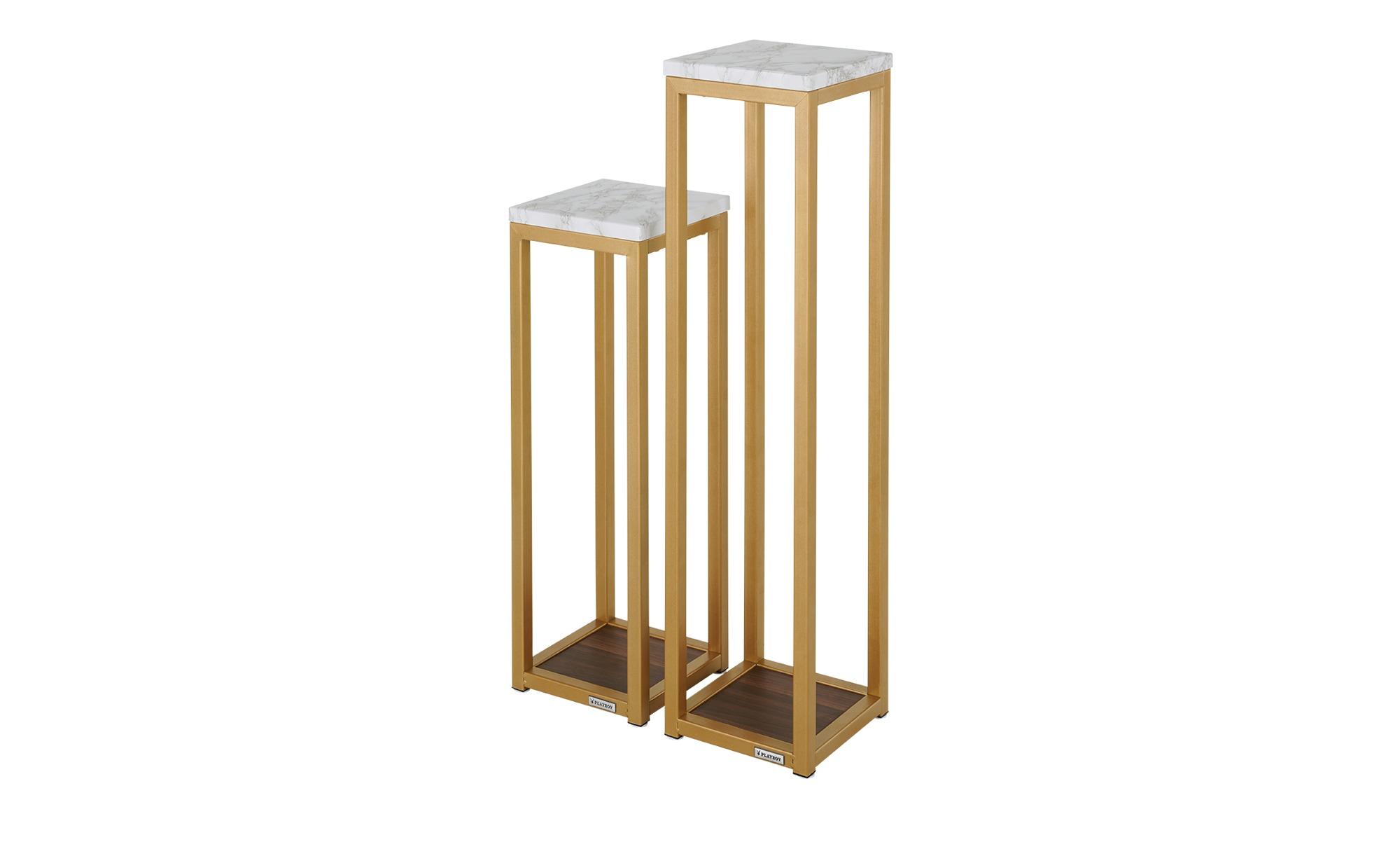 Playboy Blumenständer, 2er-Set  Mora - gold - 20 cm - 80 cm - 20 cm - Tische > Beistelltische - Möbel Kraft | Dekoration > Dekopflanzen | Playboy