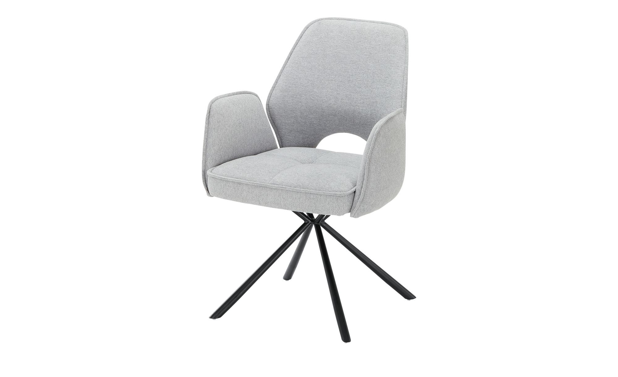 Polsterstuhl grau 61 cm 86 cm 61 cm Stühle > Esszimmerstühle Möbel Kraft