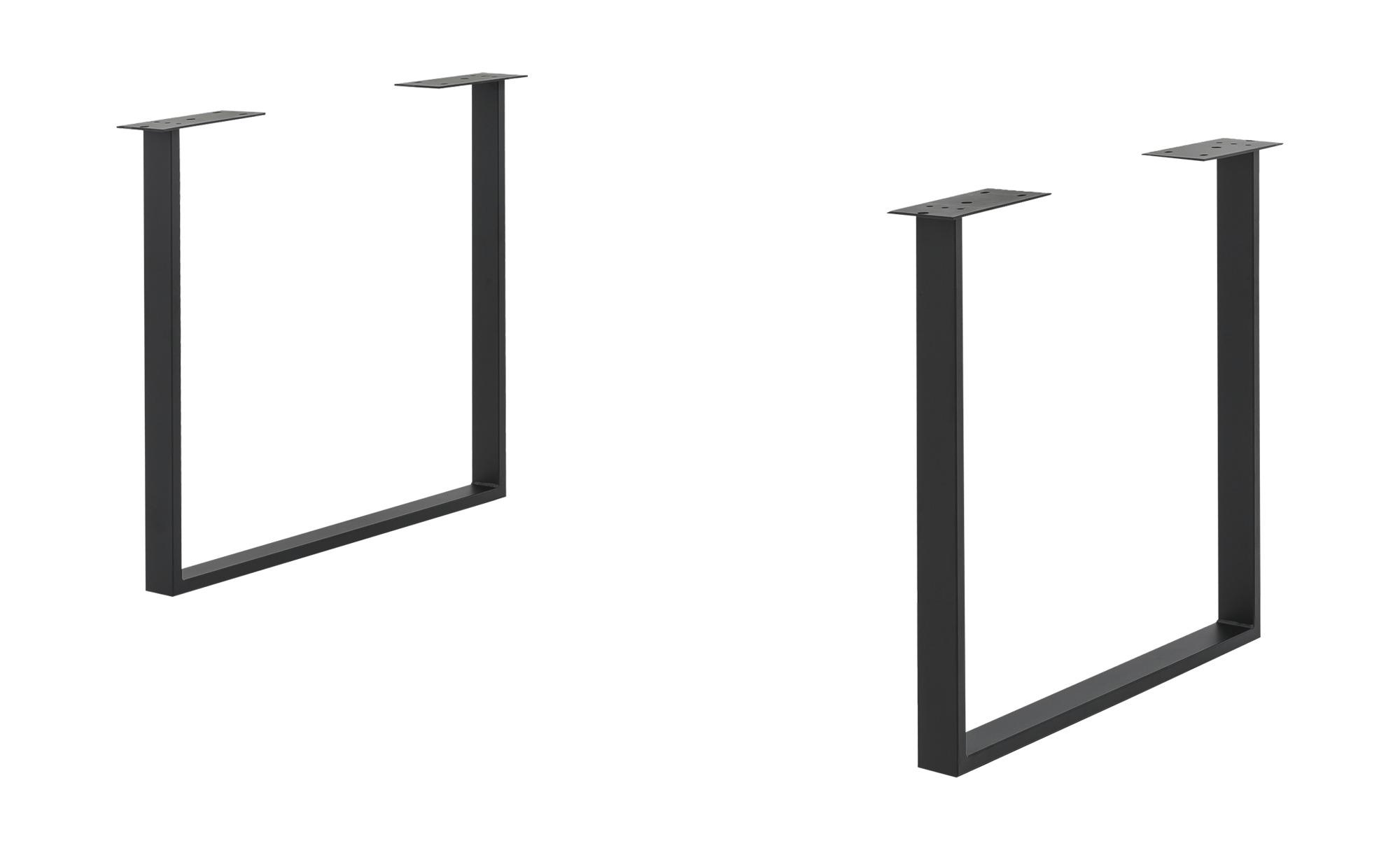 Tischgestell - schwarz - 73 cm - 72 cm - 6 cm - Tische > Tischbeine - Möbel Kraft | Wohnzimmer > Tische > Weitere Tische | Sconto