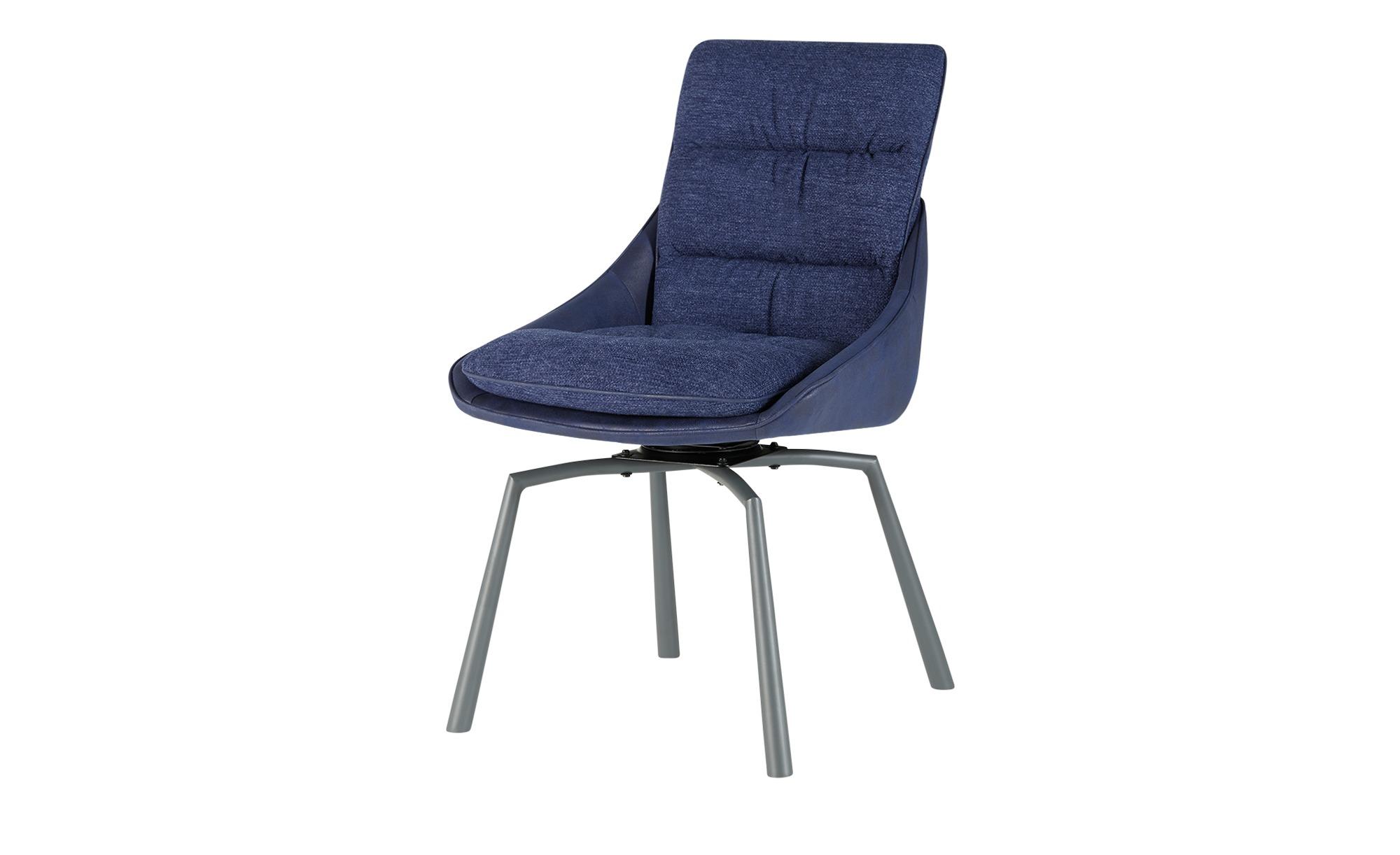 Stuhl blau 53 cm 88 cm 62 cm Stühle > Esszimmerstühle Möbel Kraft