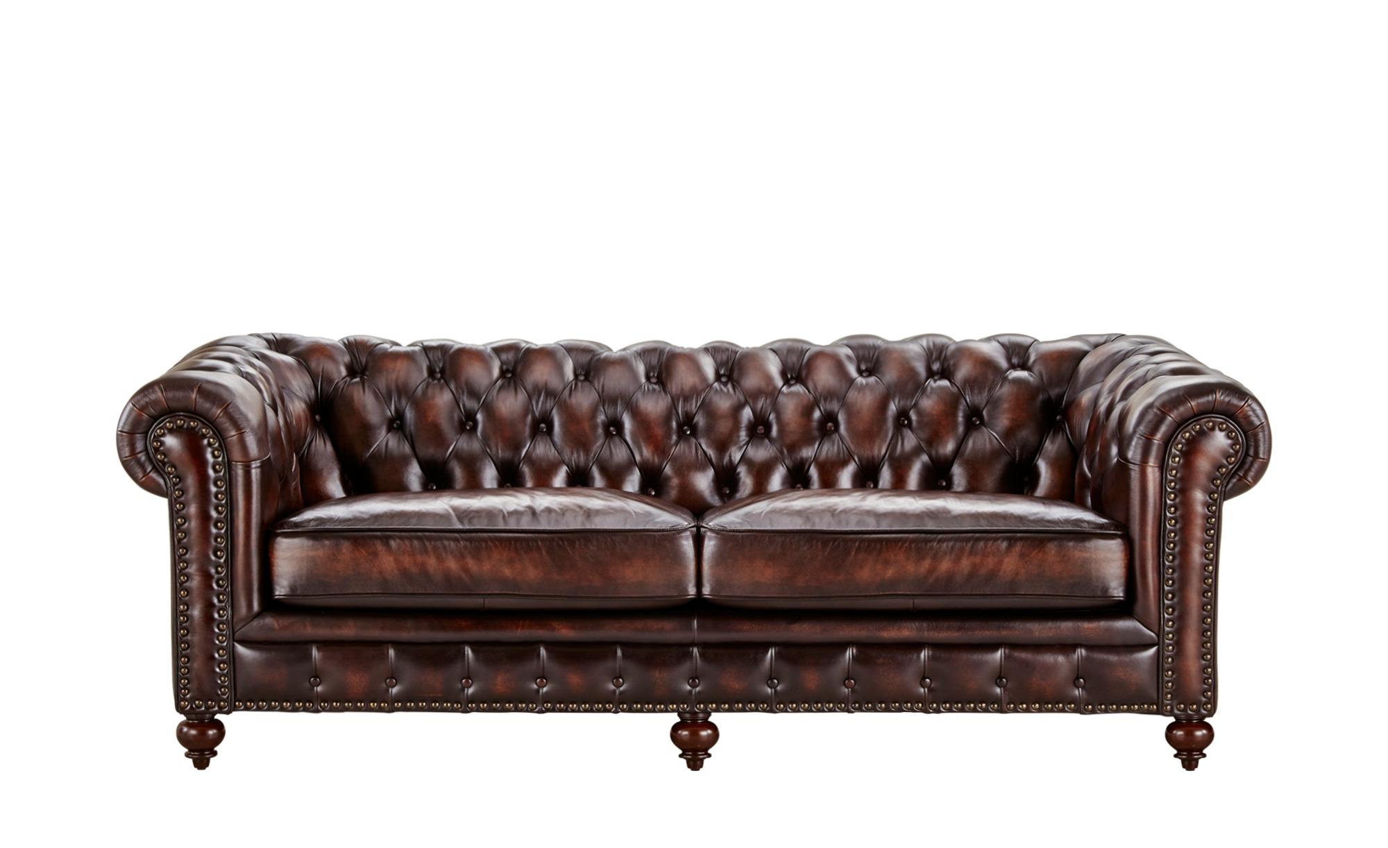 uno Sofa 12 sitzig Leder Chesterfield, gefunden bei Möbel Kraft