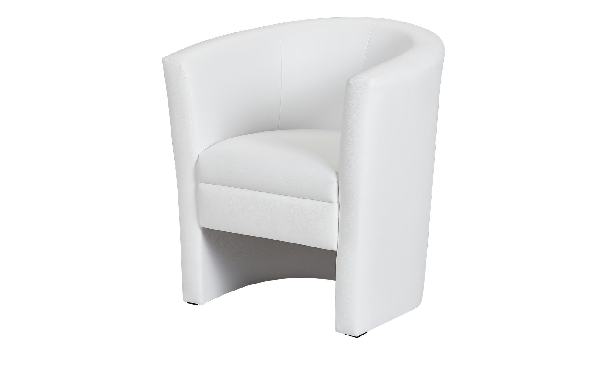 Cocktailsessel - weiß - 73 cm - 78 cm - 60 cm - Polstermöbel > Sessel > Cocktailsessel - Möbel Kraft | Wohnzimmer > Sessel > Cocktailsessel & Clubsessel | Sconto