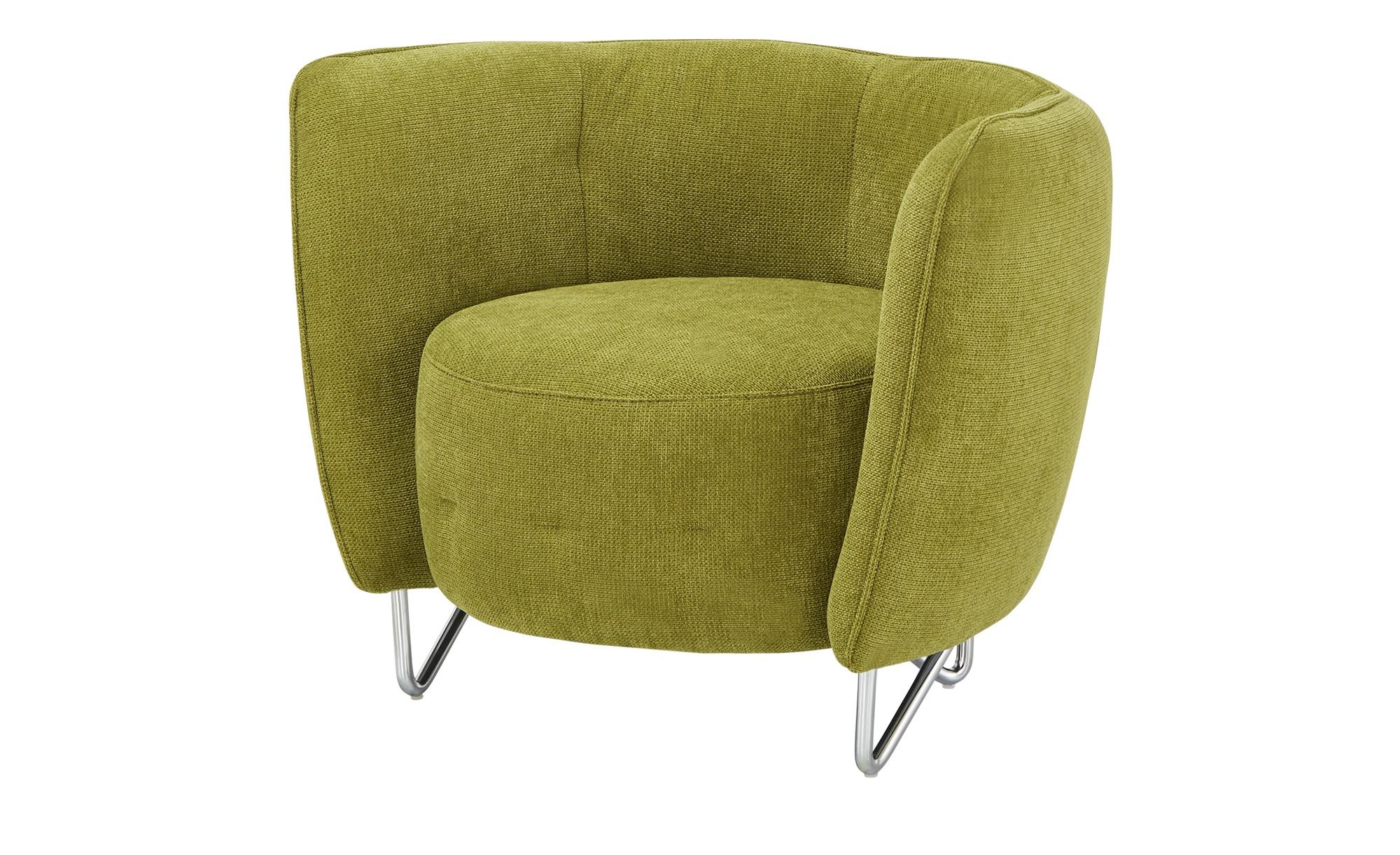 uno Sessel - grün - 86 cm - 66 cm - 69 cm - Polstermöbel > Sessel > Cocktailsessel - Möbel Kraft | Wohnzimmer > Sessel > Cocktailsessel & Clubsessel | uno