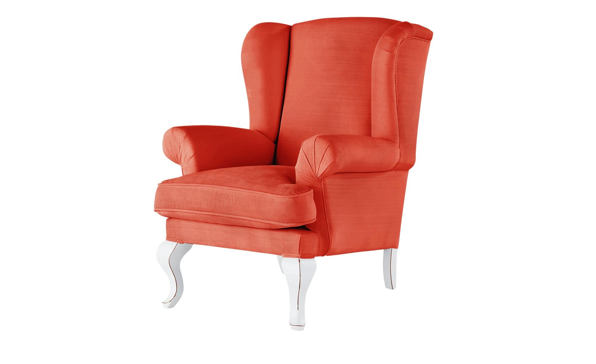 smart Ohrensessel - orange - 84 cm - 98 cm - 85 cm - Polstermöbel > Sessel > Ohrensessel - Möbel Kraft | Wohnzimmer > Sessel > Ohrensessel | smart